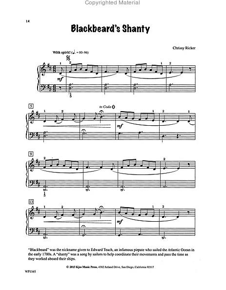 Blackbeard's Shanty Sample Page