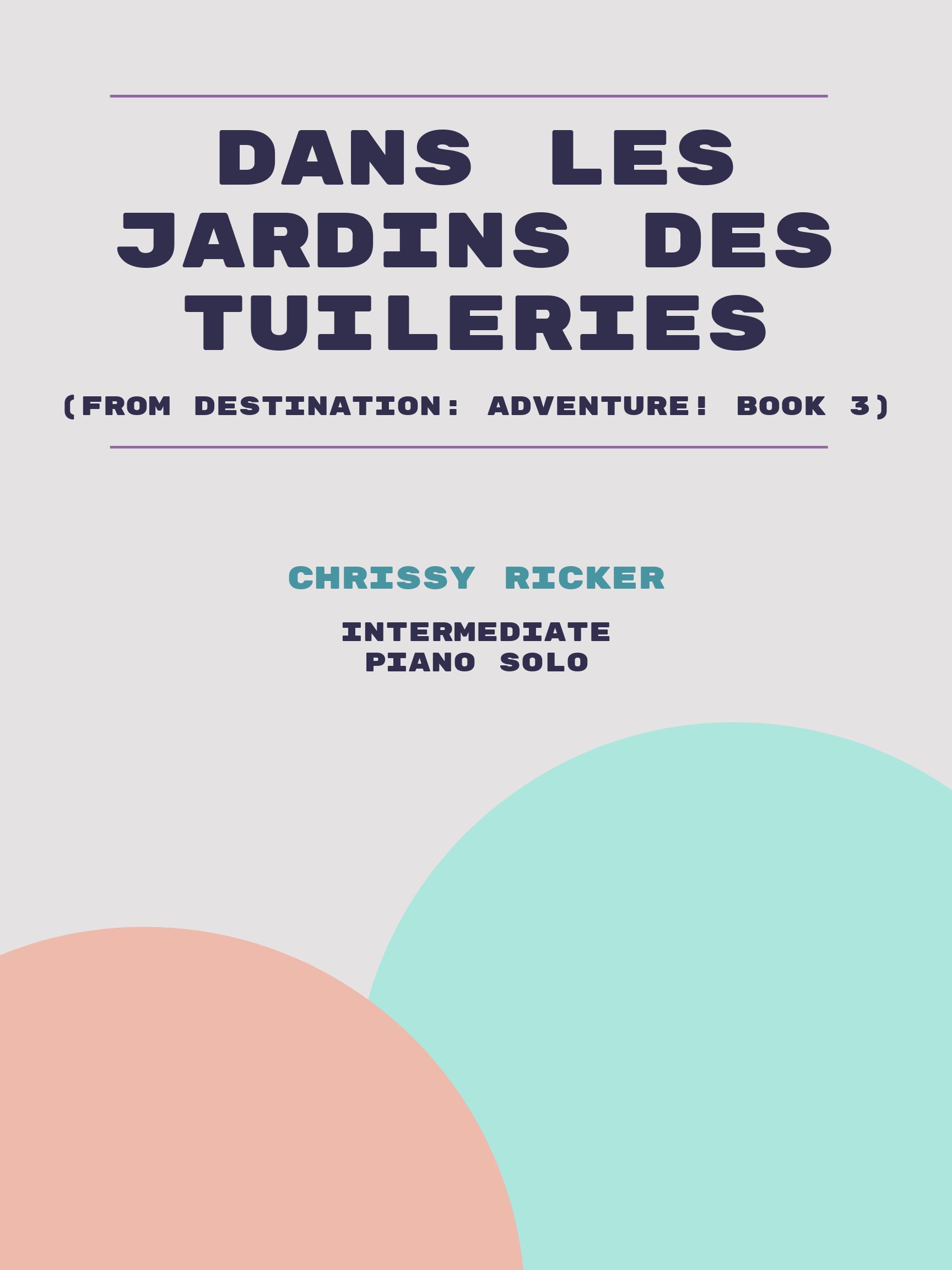 Dans les jardins des Tuileries by Chrissy Ricker
