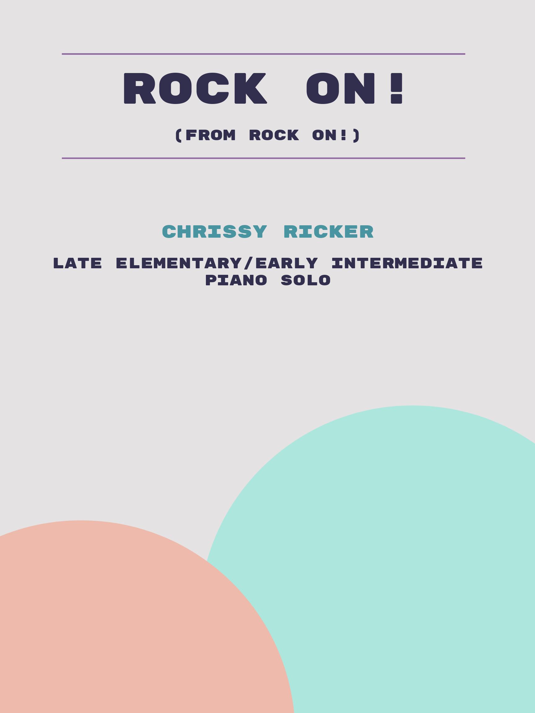 Rock On! by Chrissy Ricker