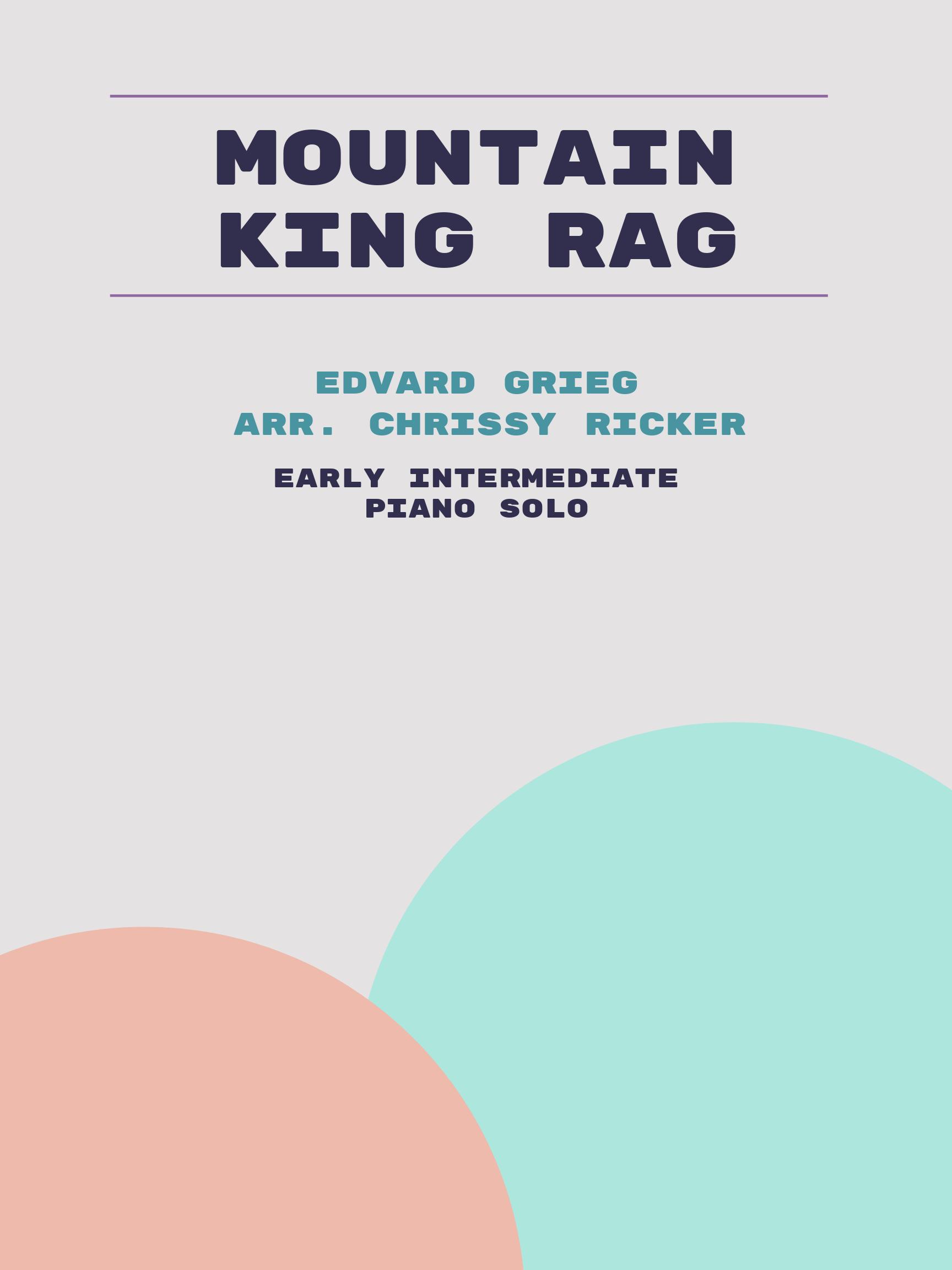 Mountain King Rag by Edvard Grieg
