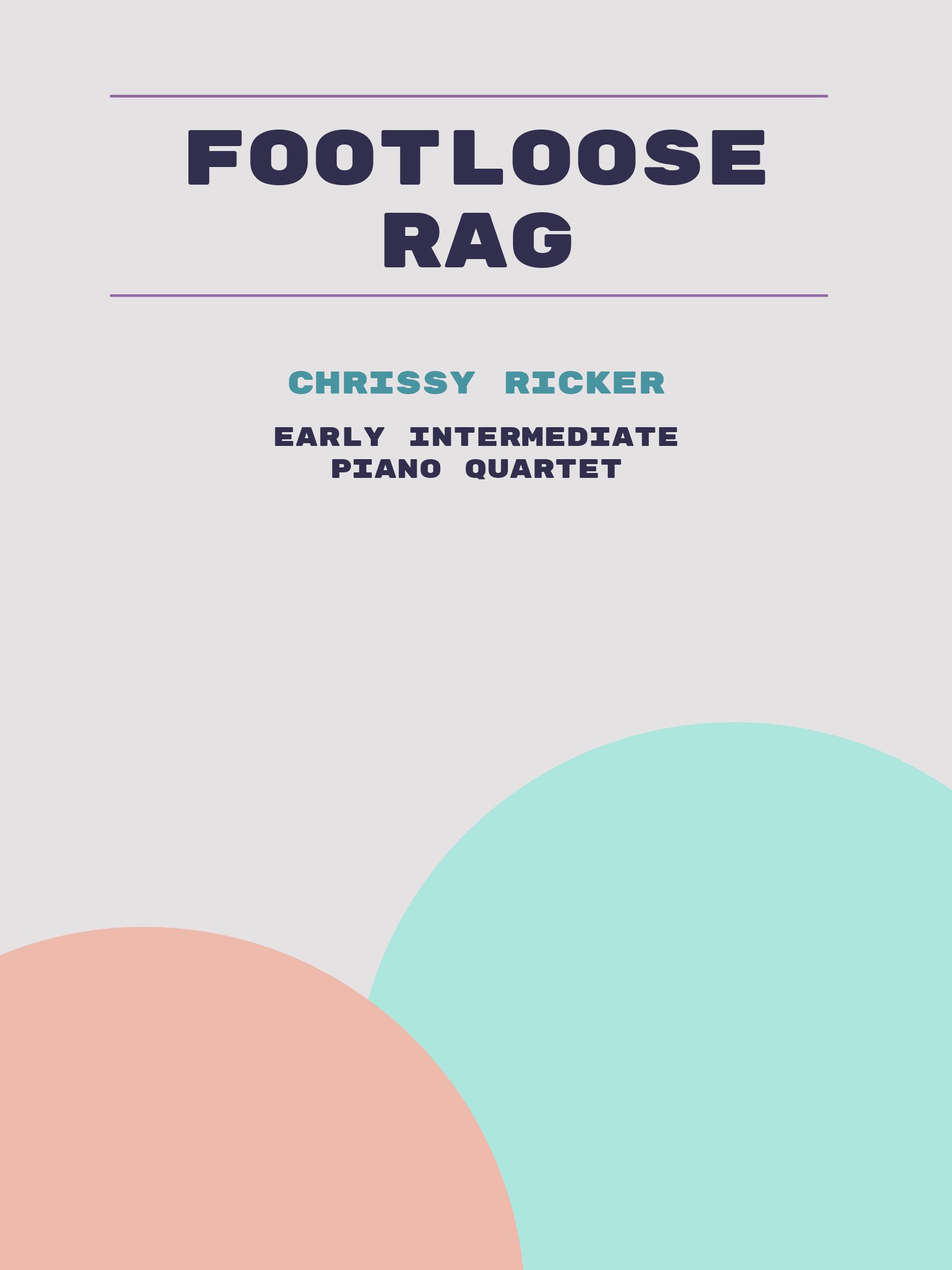 Footloose Rag by Chrissy Ricker