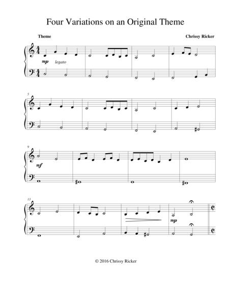 Four Variations on an Original Theme Sample Page