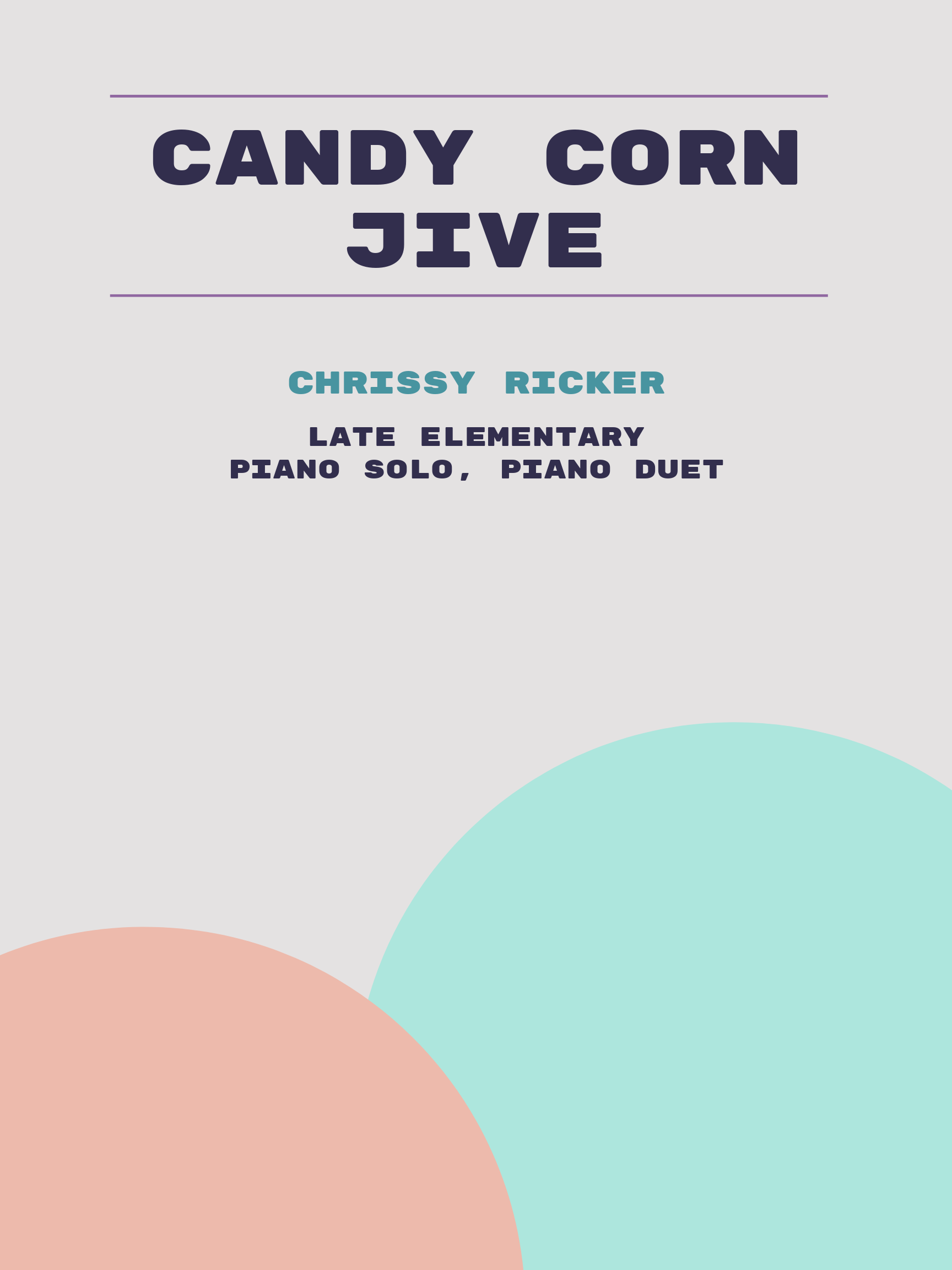 Candy Corn Jive by Chrissy Ricker