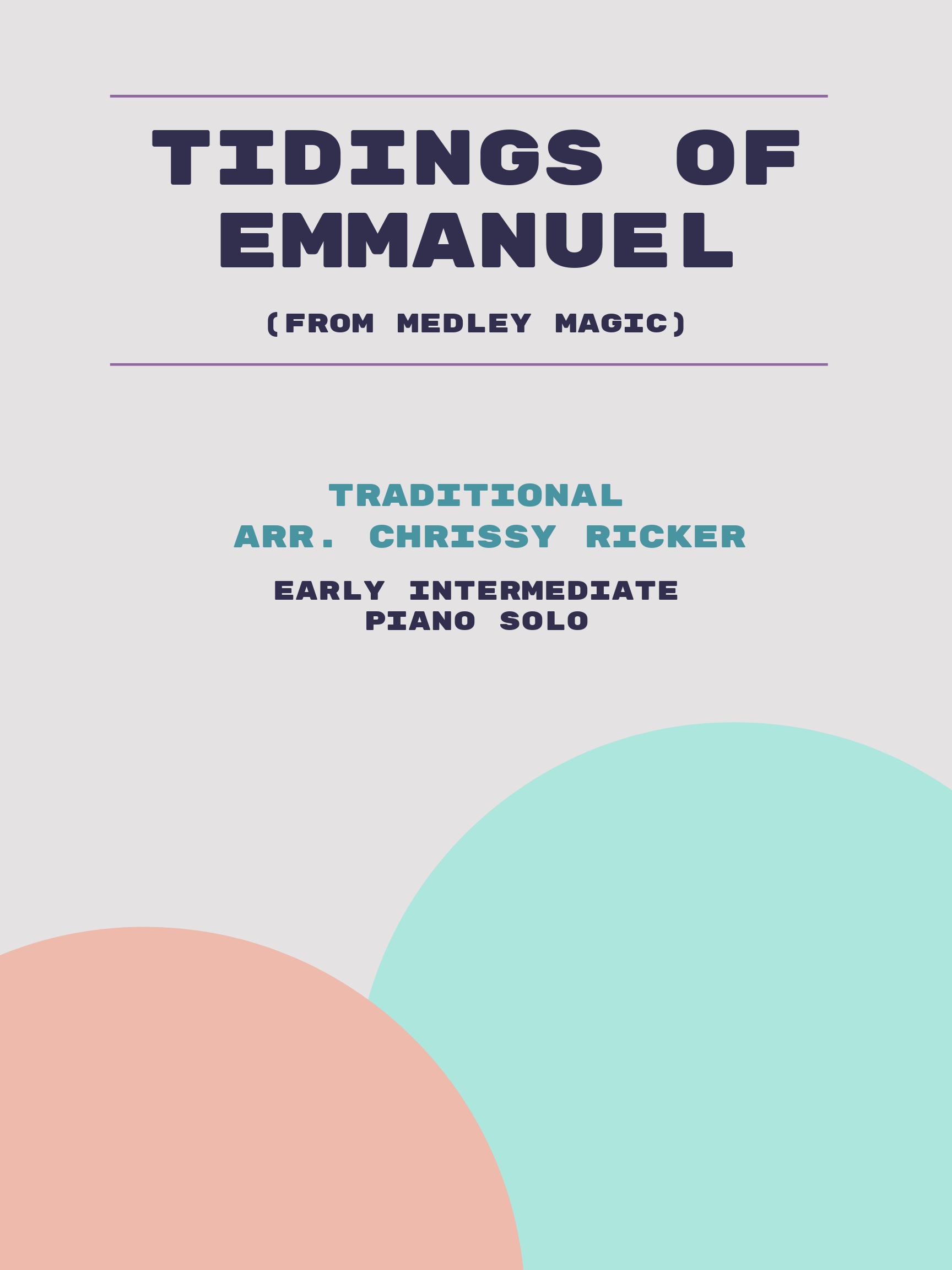 Tidings of Emmanuel by Traditional