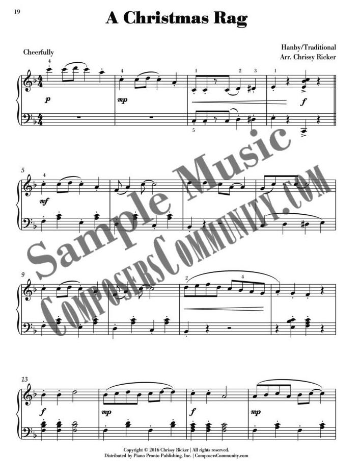 A Christmas Rag Sample Page