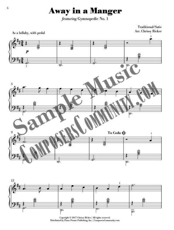 Away in a Manger Sample Page