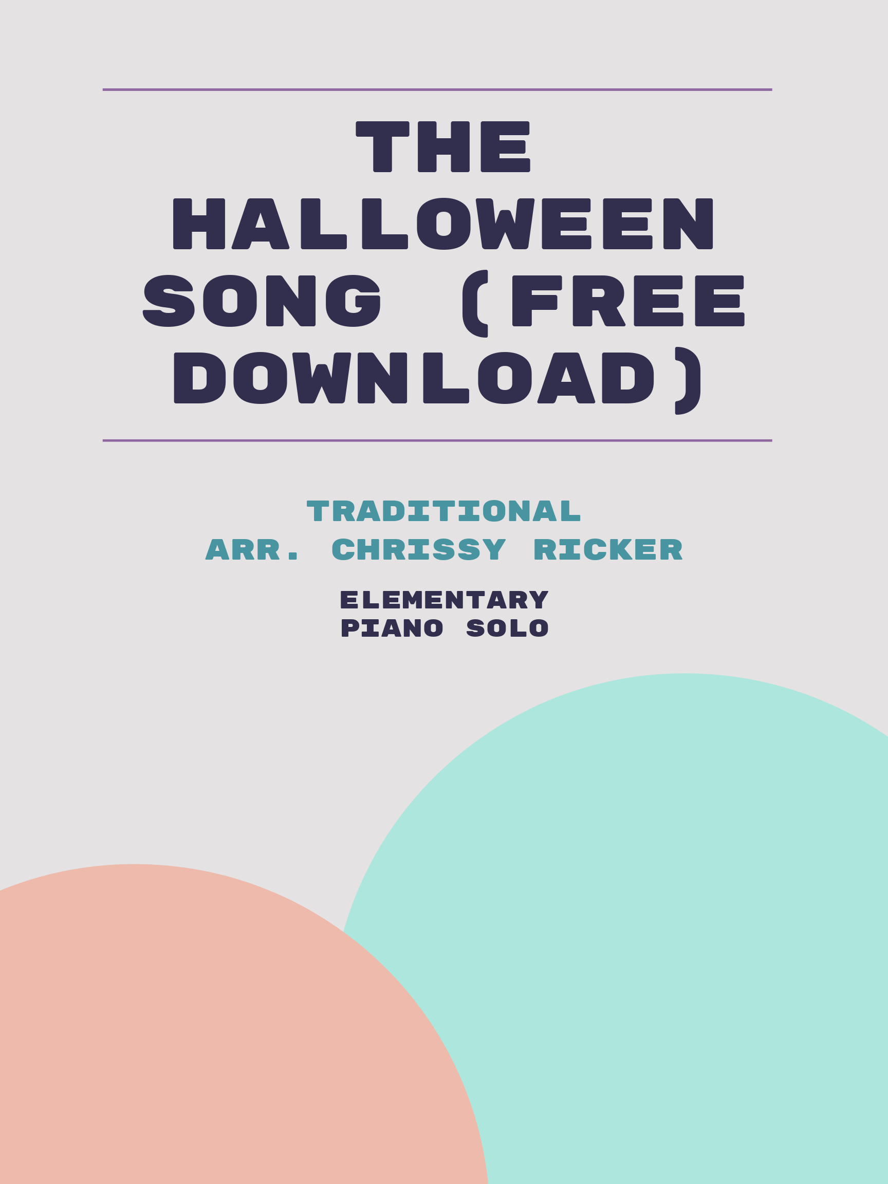 The Halloween Song (free download) by Traditional