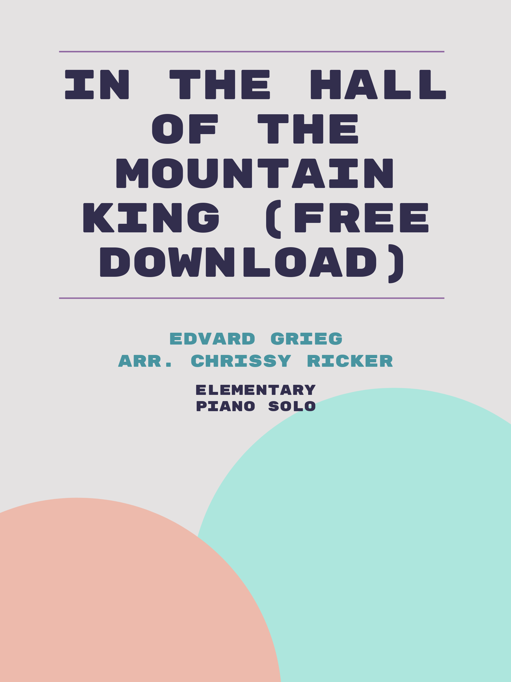 In the Hall of the Mountain King (free download) by Edvard Grieg