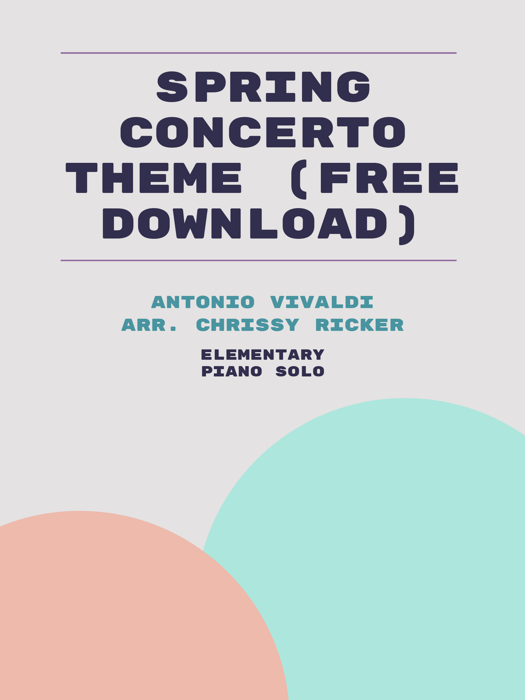 Spring Concerto Theme (free download) by Antonio Vivaldi