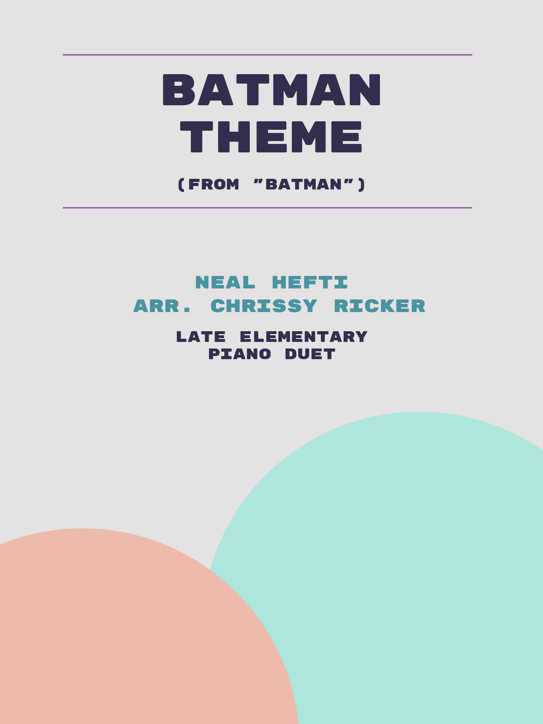 Batman Theme by Neal Hefti