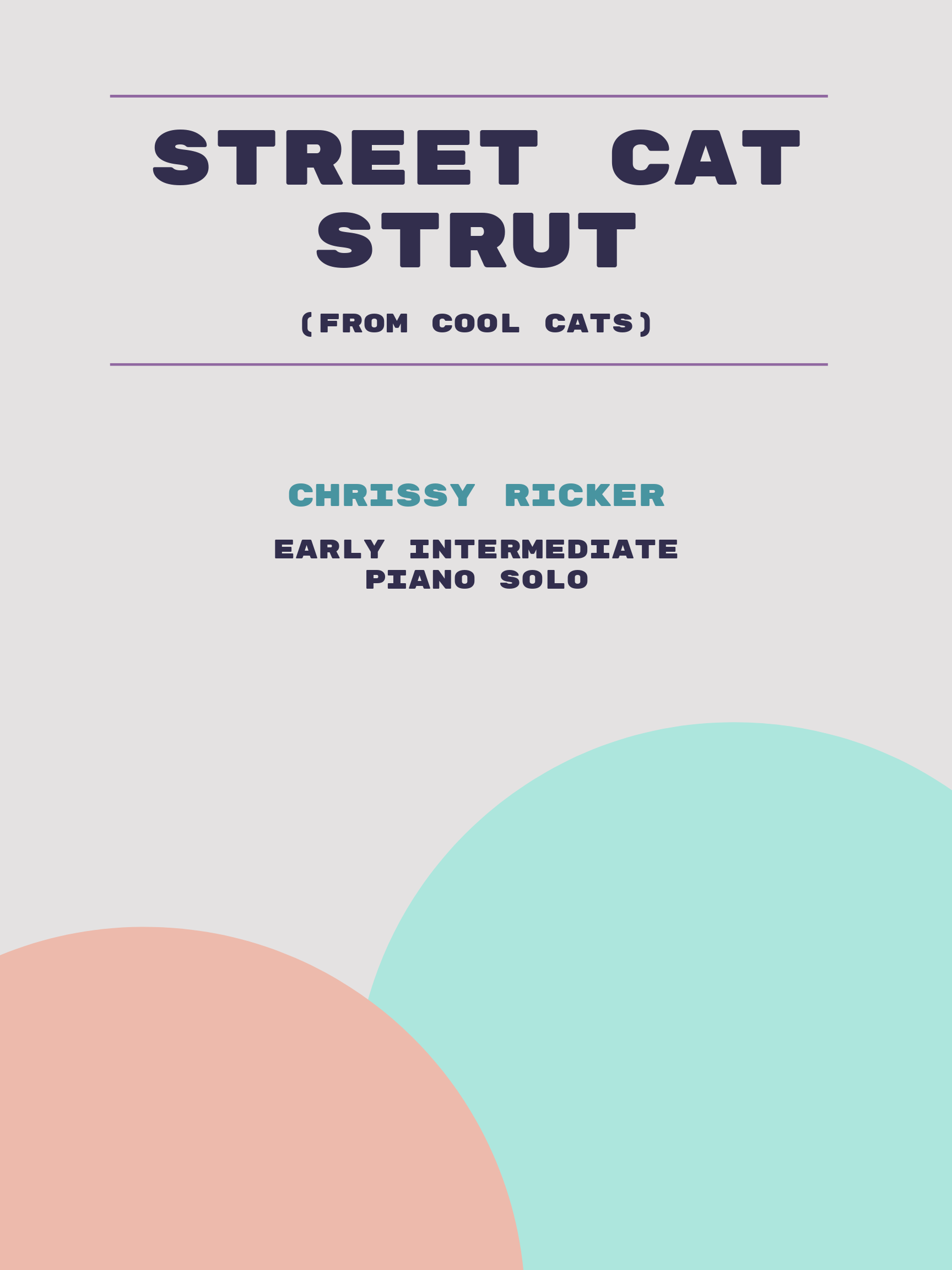 Street Cat Strut Sample Page