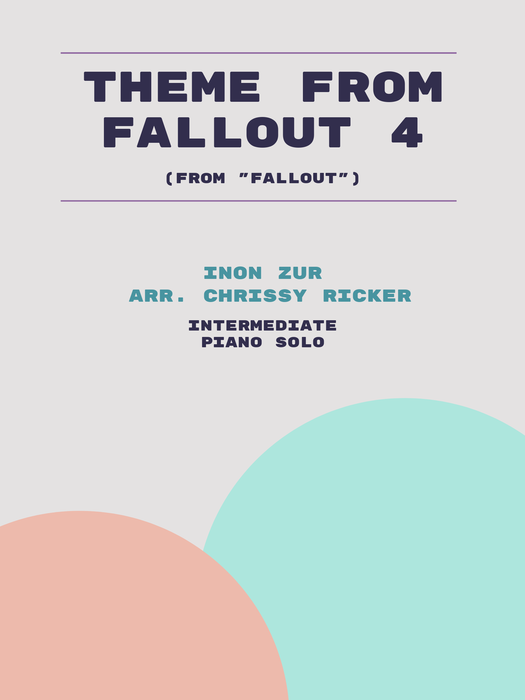 Theme from Fallout 4 by Inon Zur