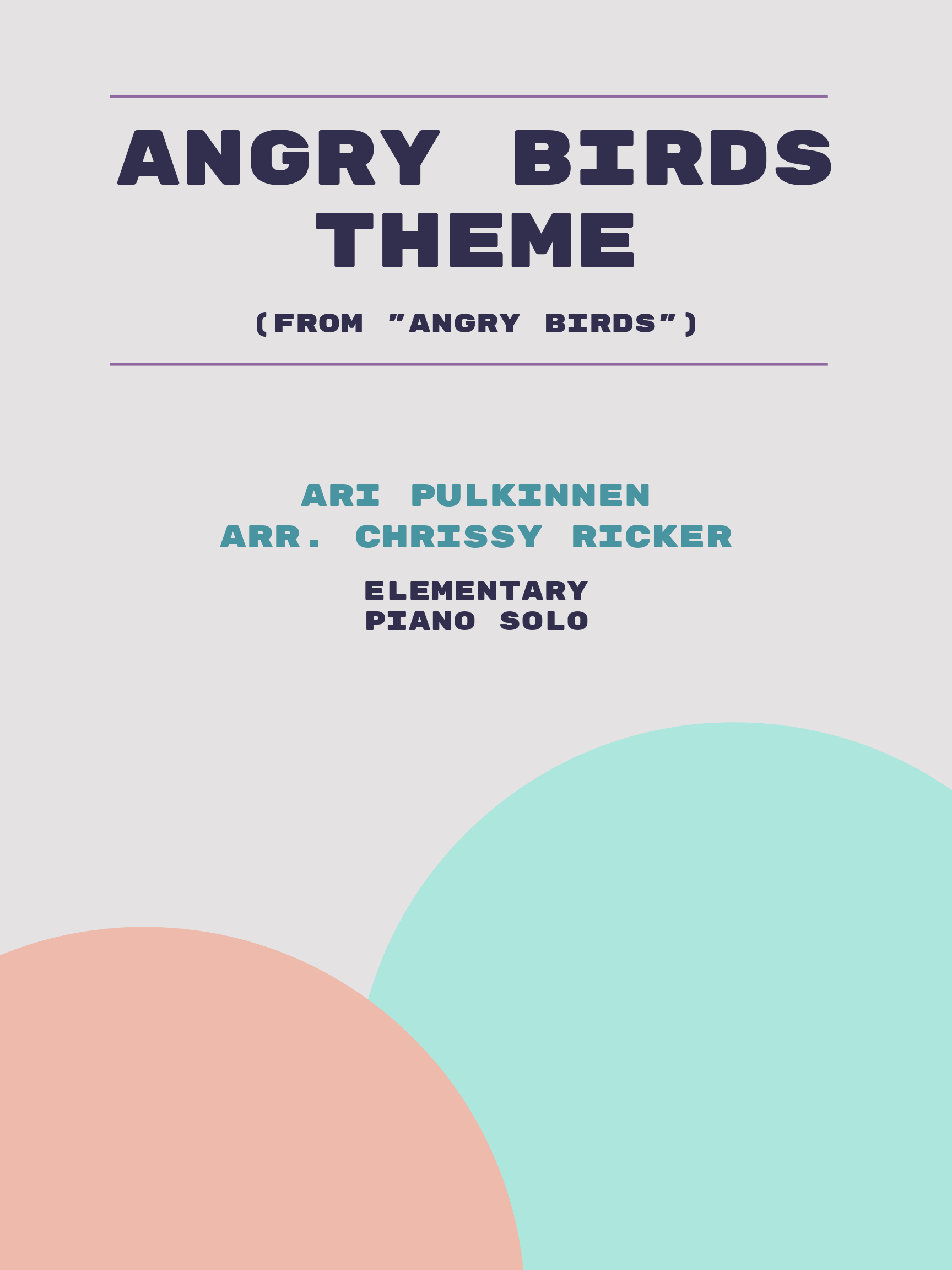 Angry Birds Theme Sample Page