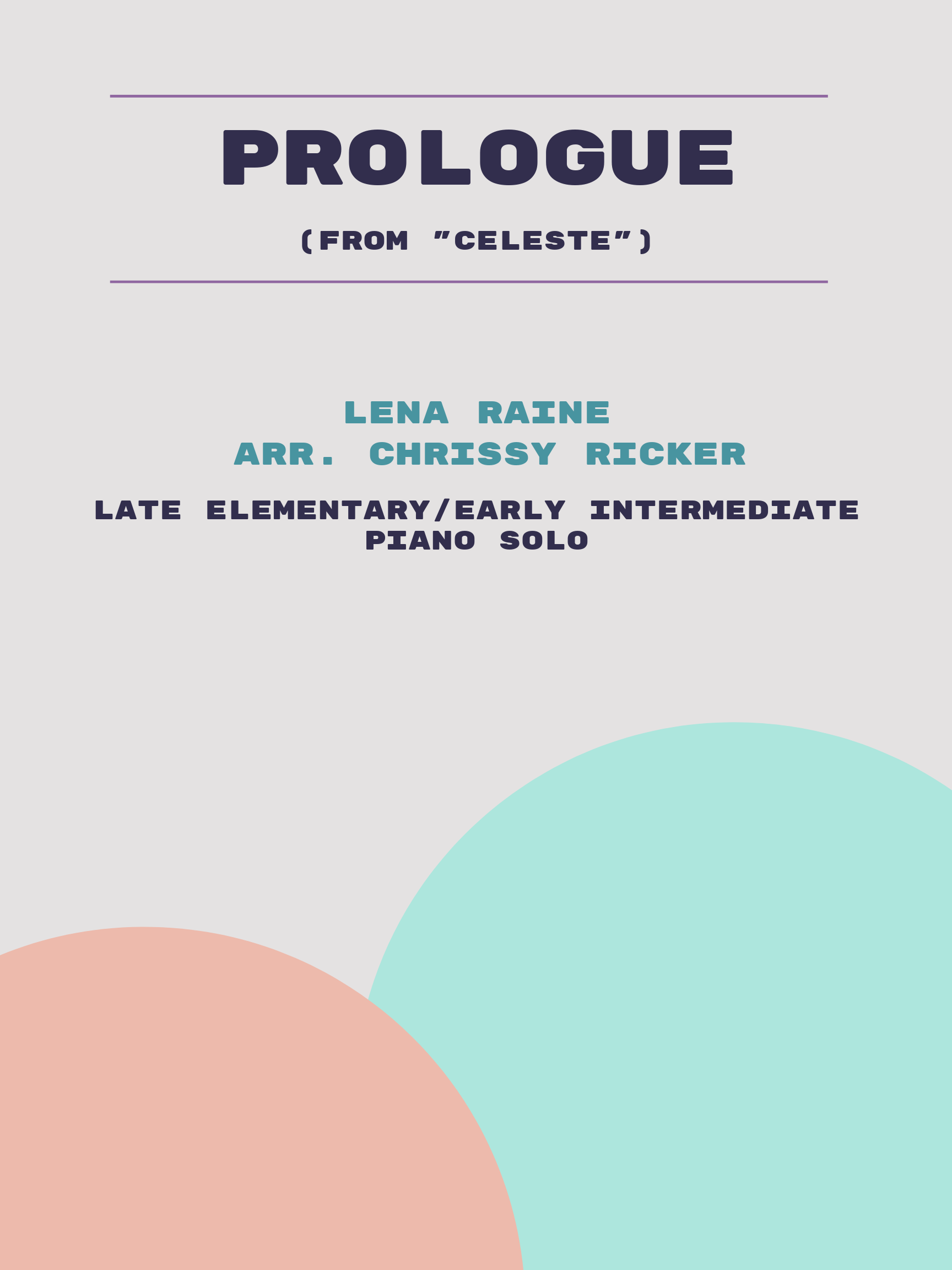 Prologue by Lena Raine