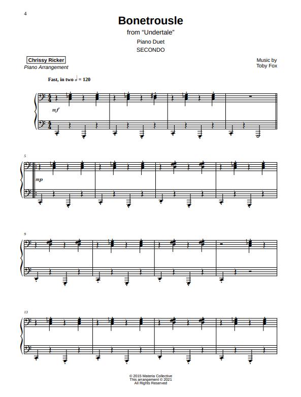 Bonetrousle Sample Page