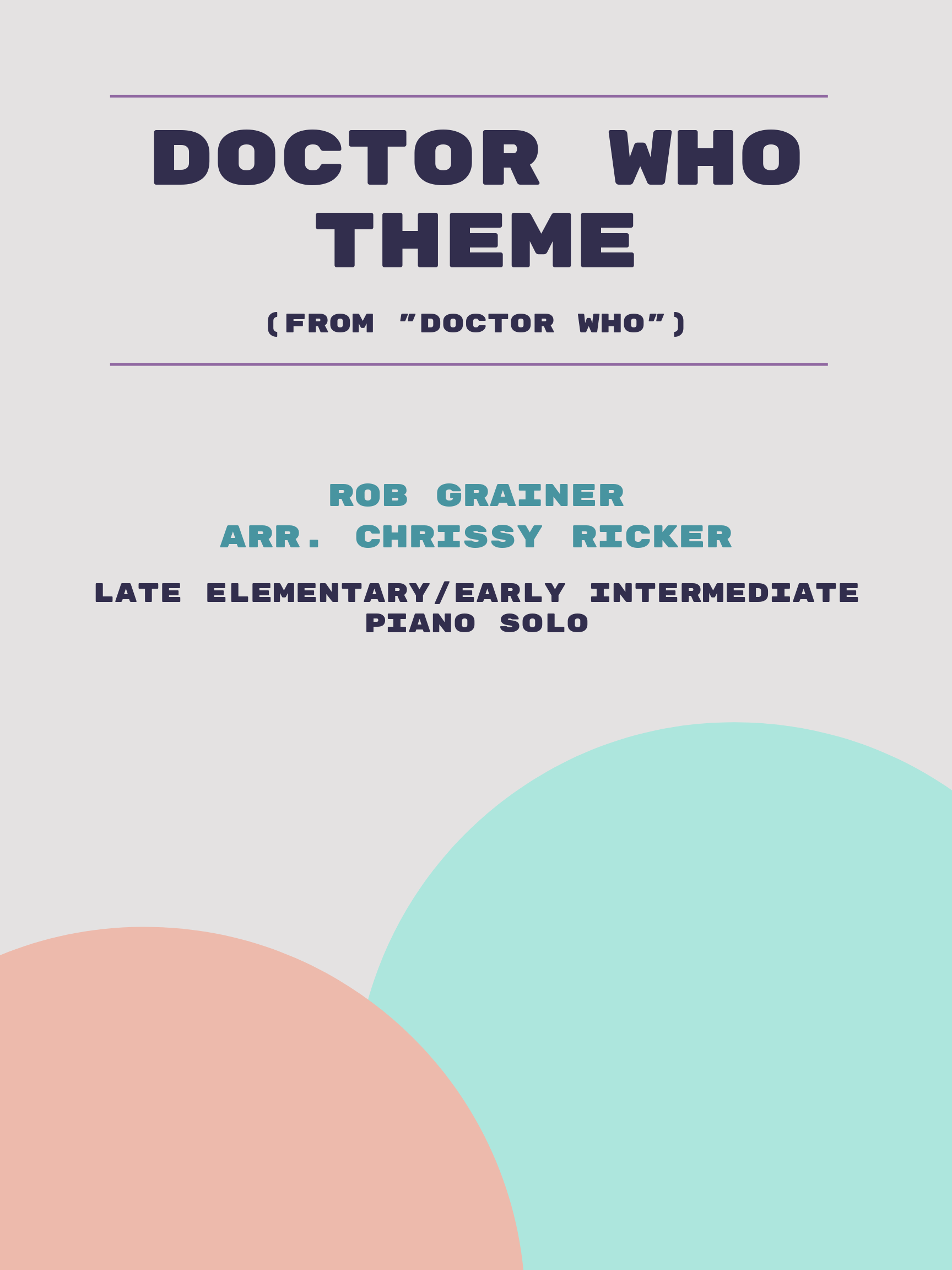 Doctor Who Theme by Rob Grainer
