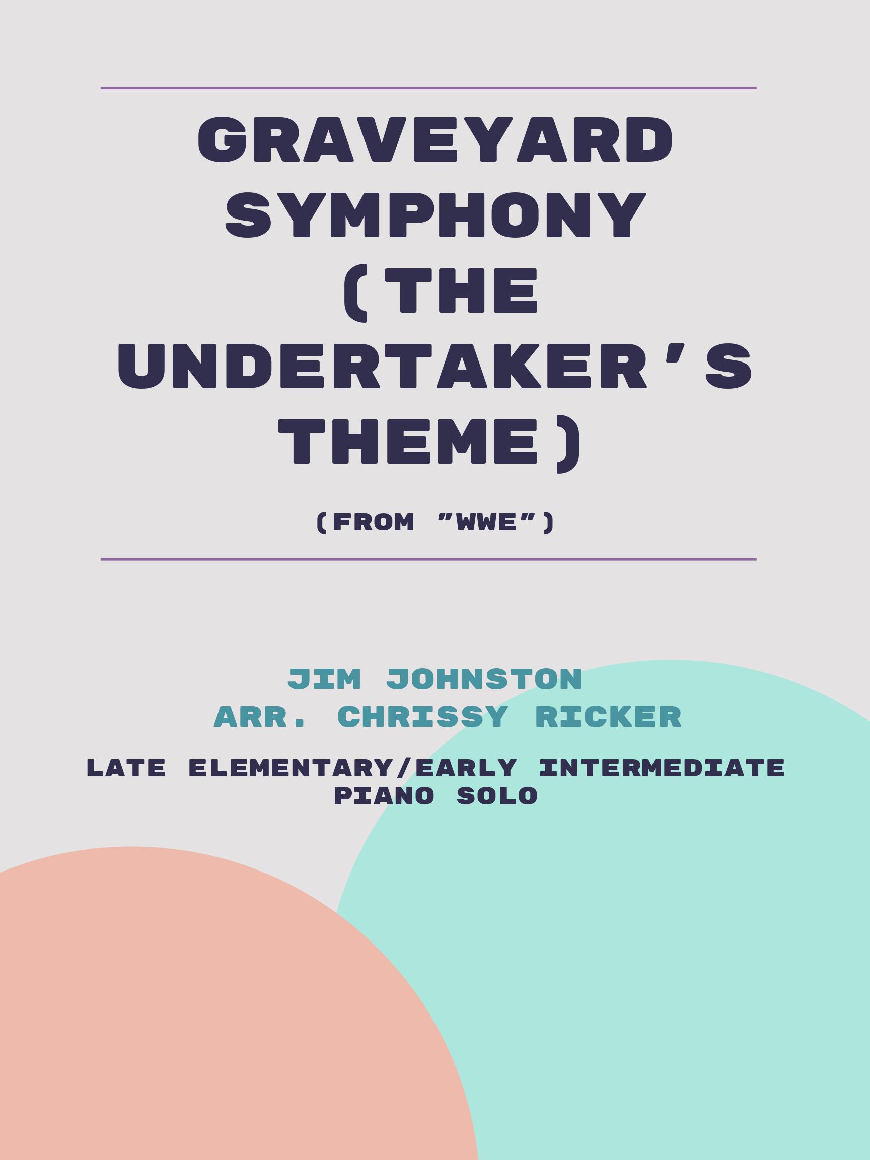 Graveyard Symphony (The Undertaker's Theme) Sample Page