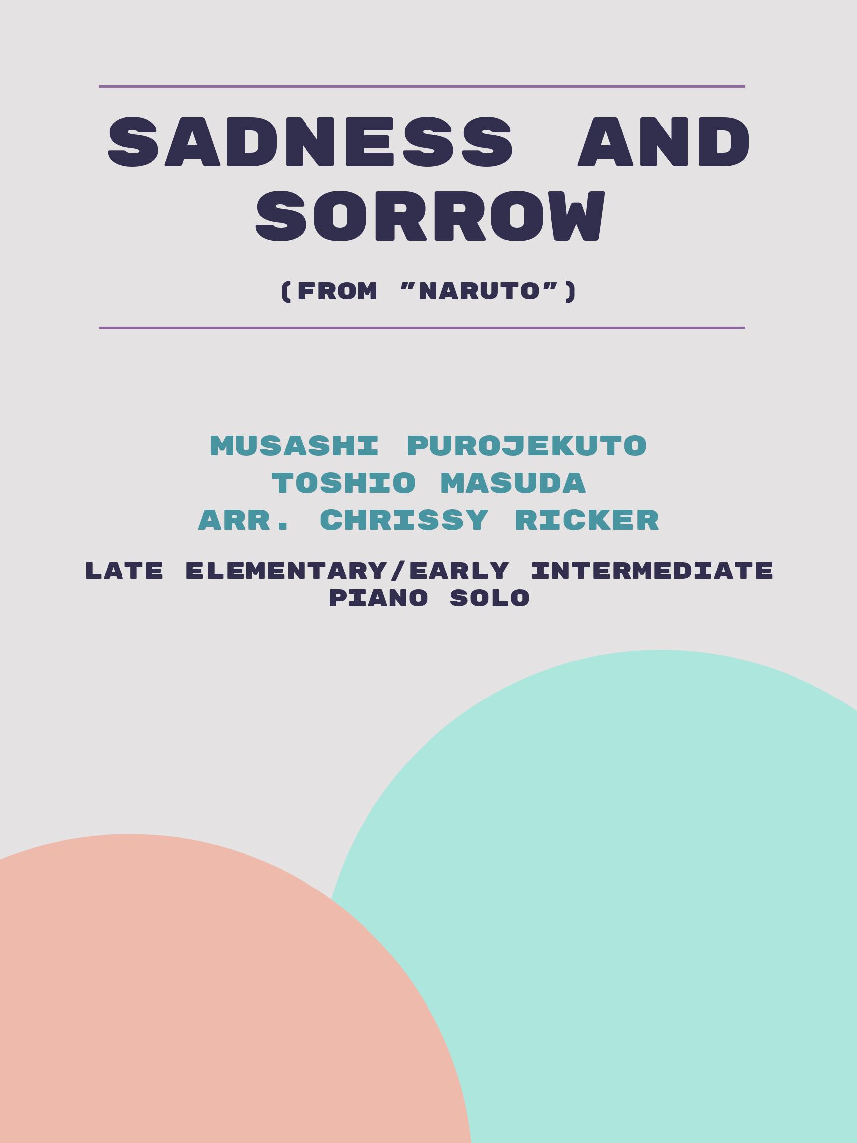 Sadness and Sorrow by Musashi Purojekuto, Toshio Masuda
