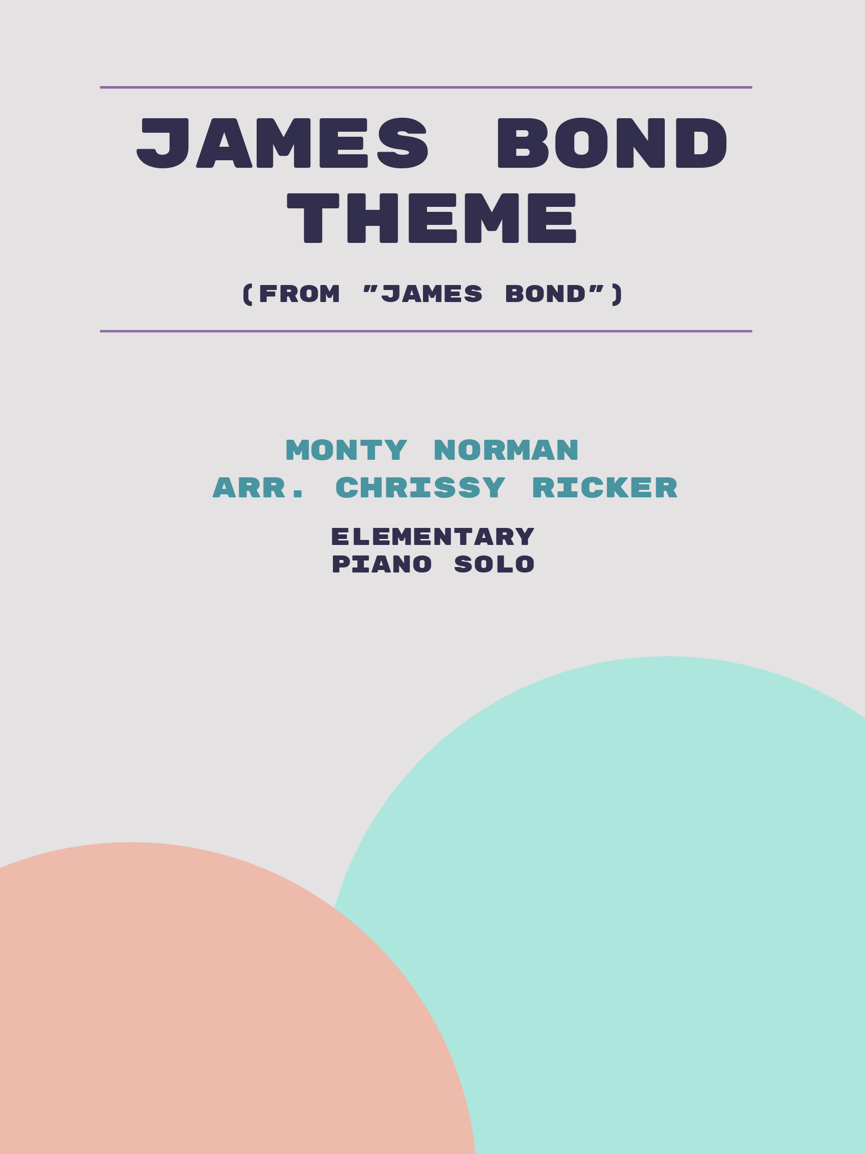 James Bond Theme Sample Page
