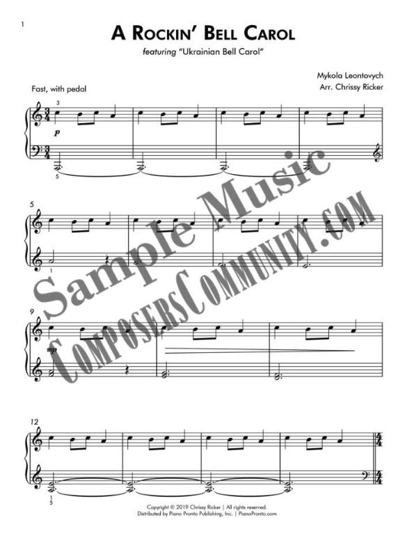 A Rockin' Bell Carol Sample Page