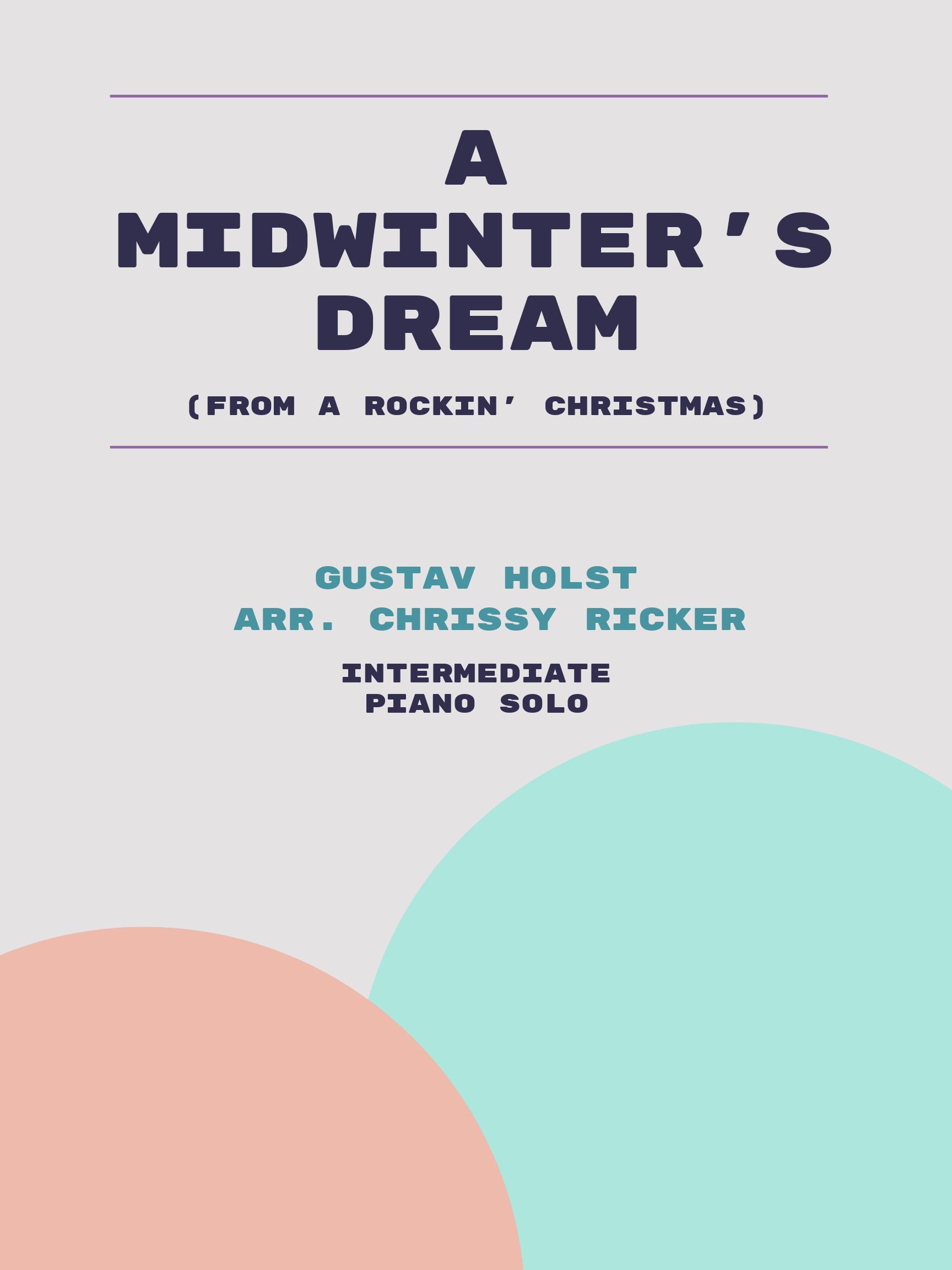 A Midwinter's Dream by Gustav Holst