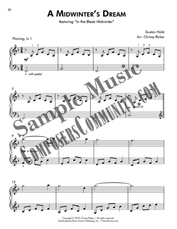 A Midwinter's Dream Sample Page