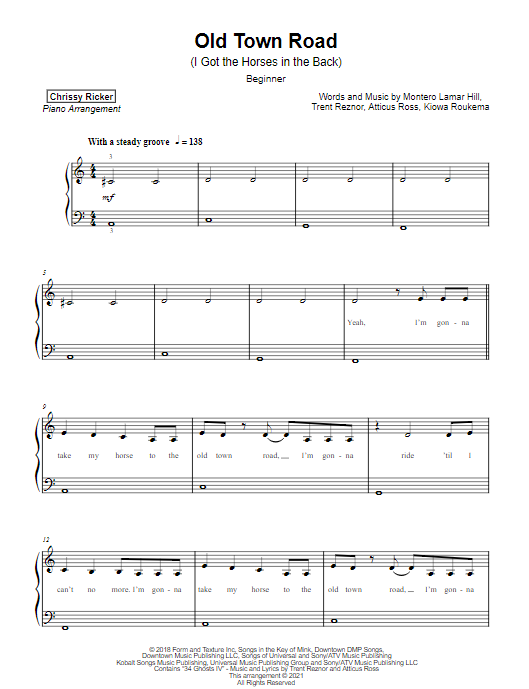 Old Town Road Sample Page