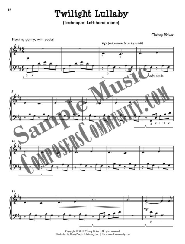 Twilight Lullaby Sample Page