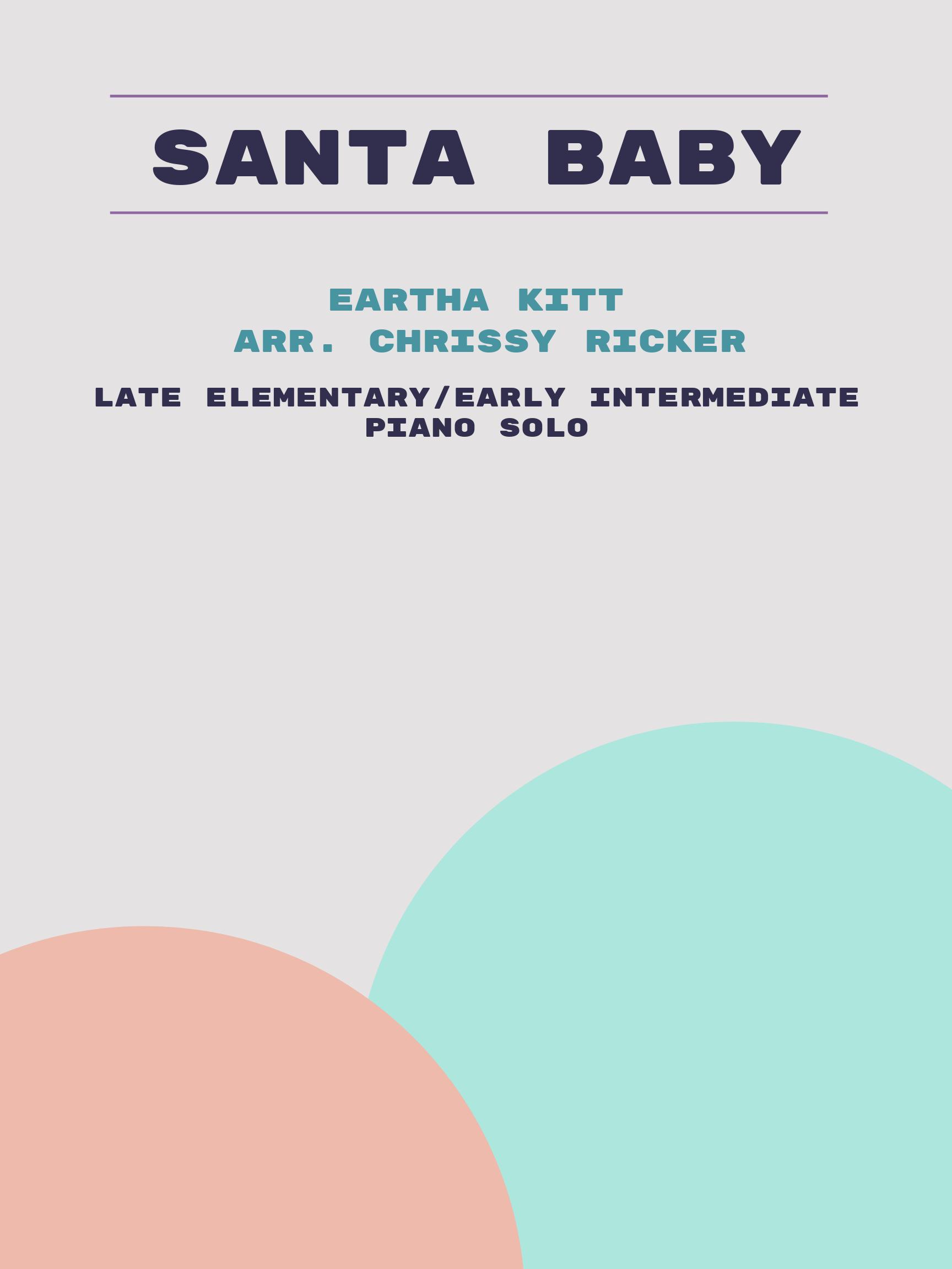Santa Baby Sample Page