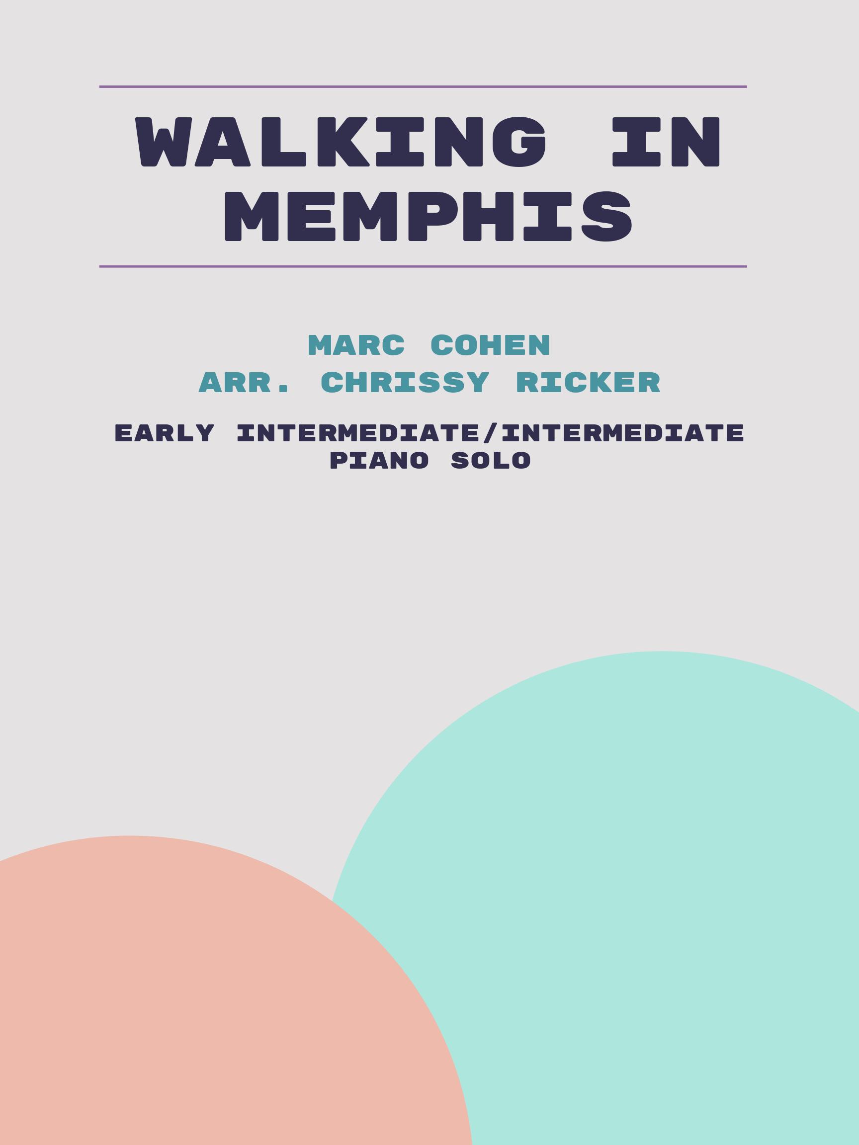 Walking in Memphis by Marc Cohen