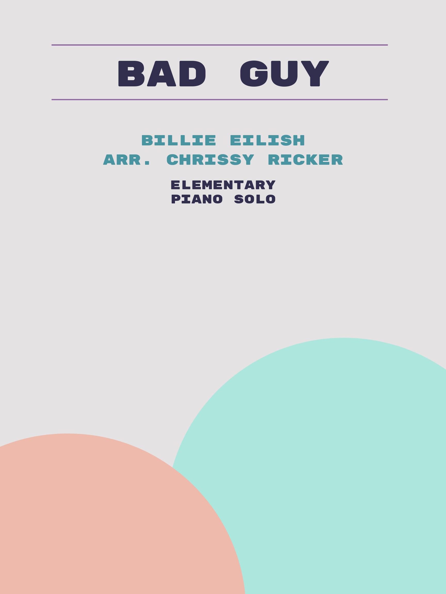 bad guy by Billie Eilish