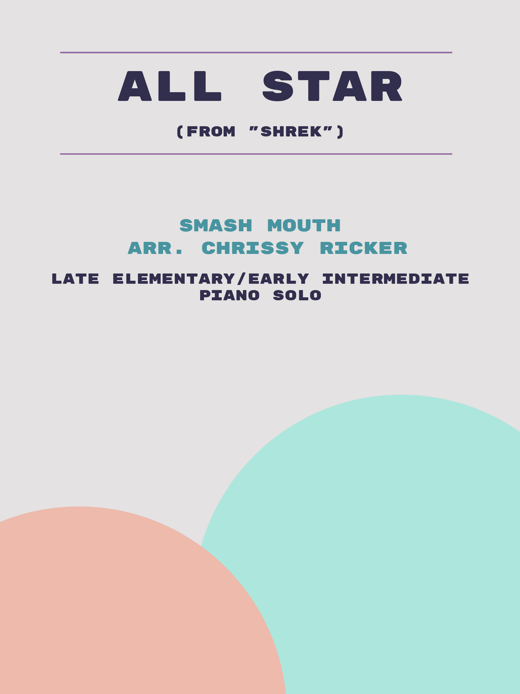 All Star Sample Page