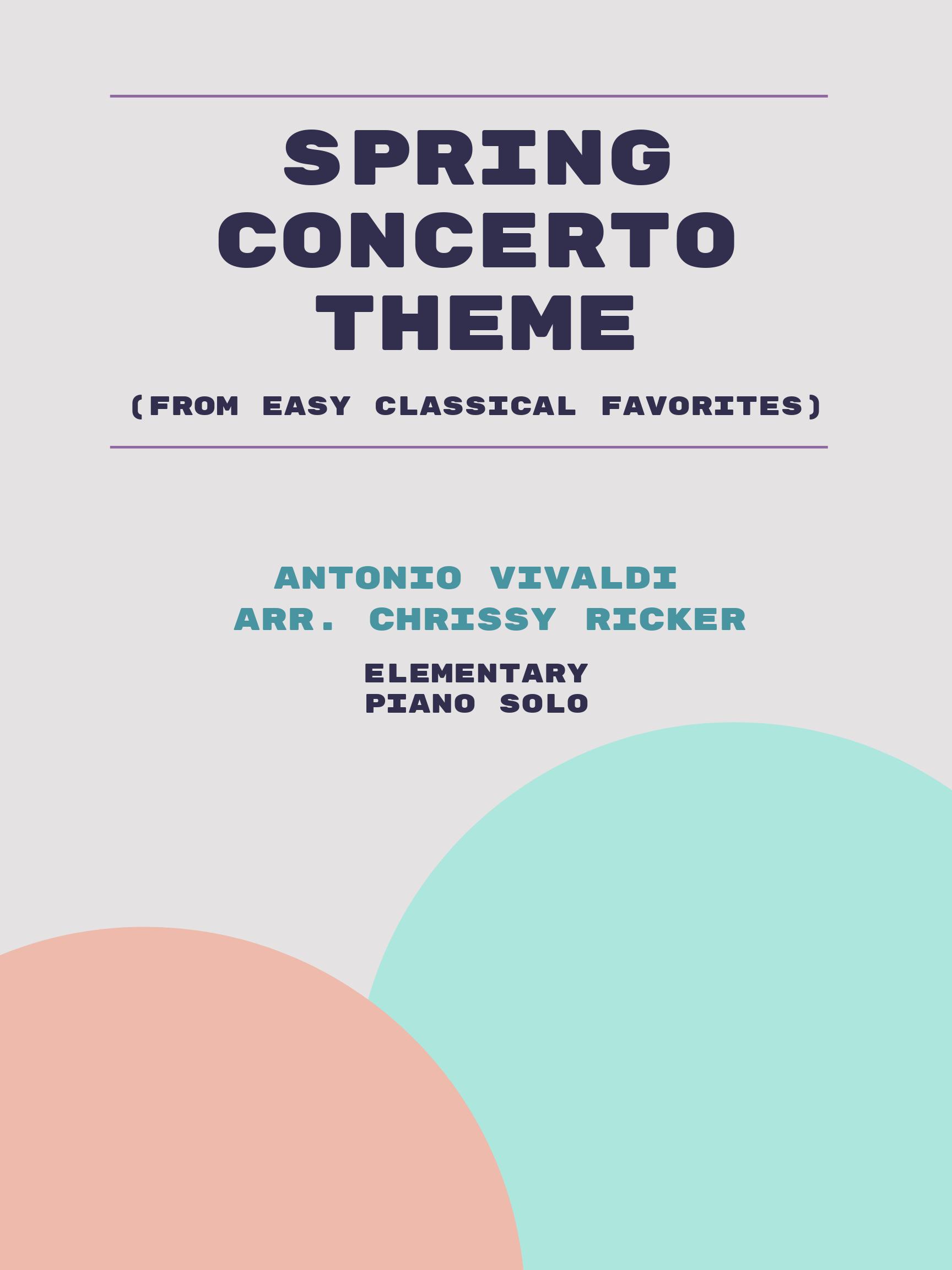 Spring Concerto Theme by Antonio Vivaldi