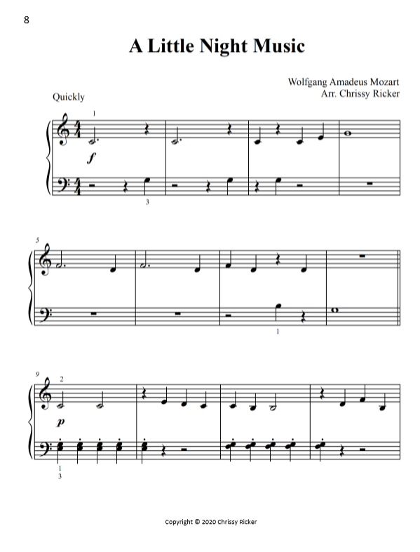 A Little Night Music Sample Page