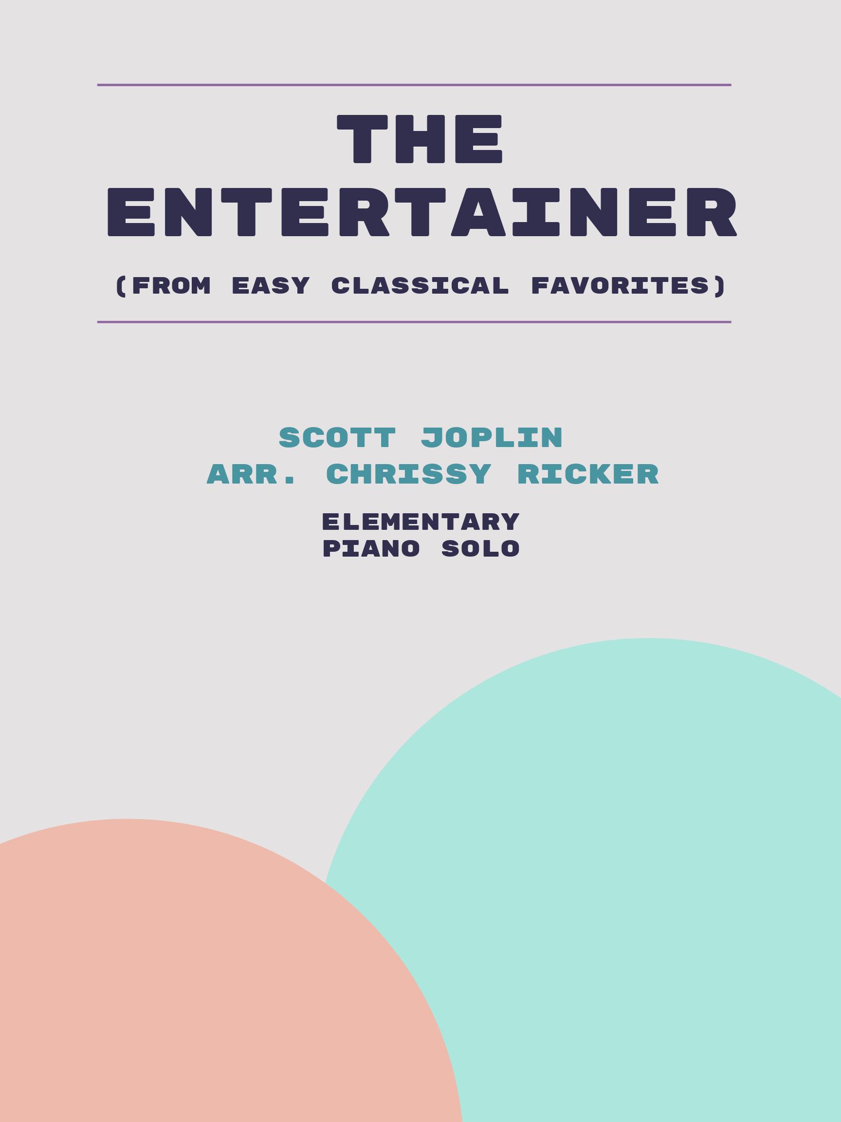 The Entertainer by Scott Joplin
