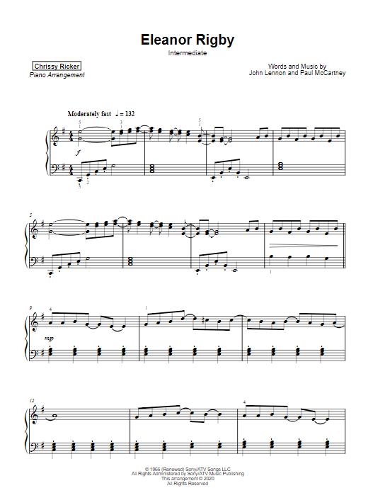 Eleanor Rigby Sample Page