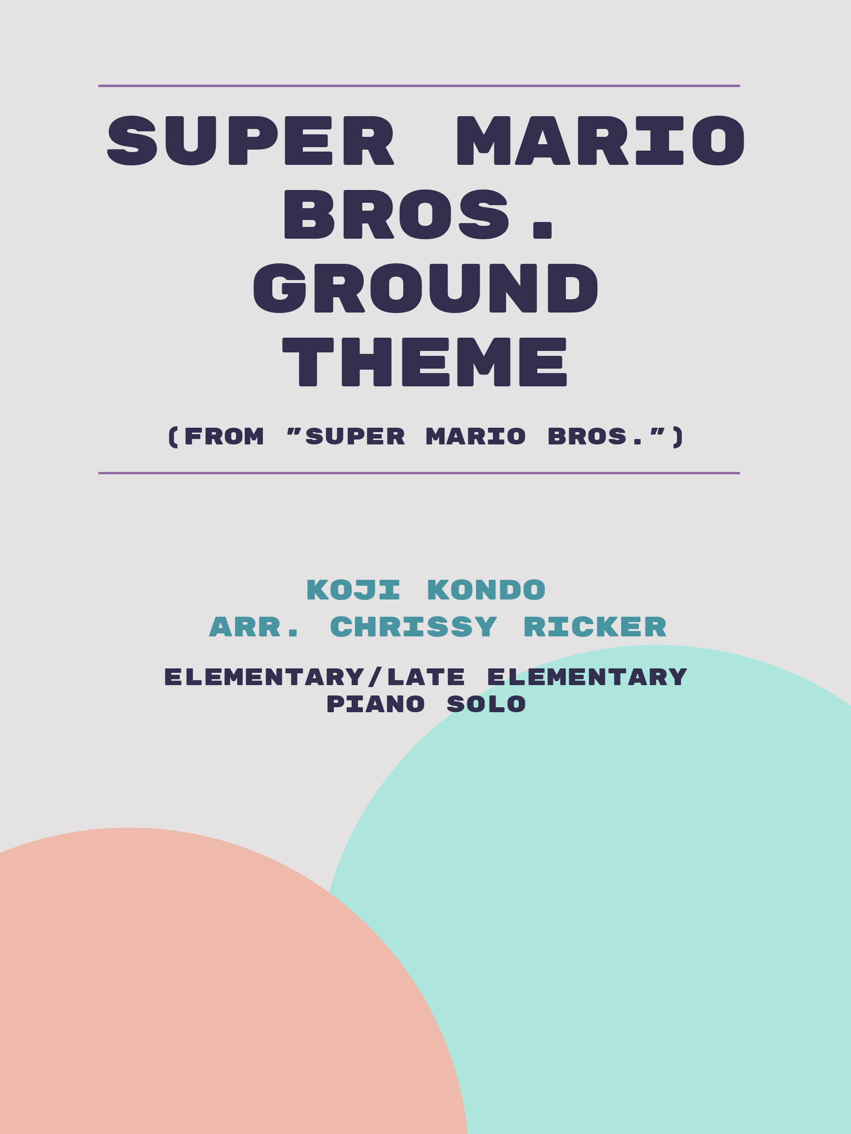 Super Mario Bros. Ground Theme Sample Page