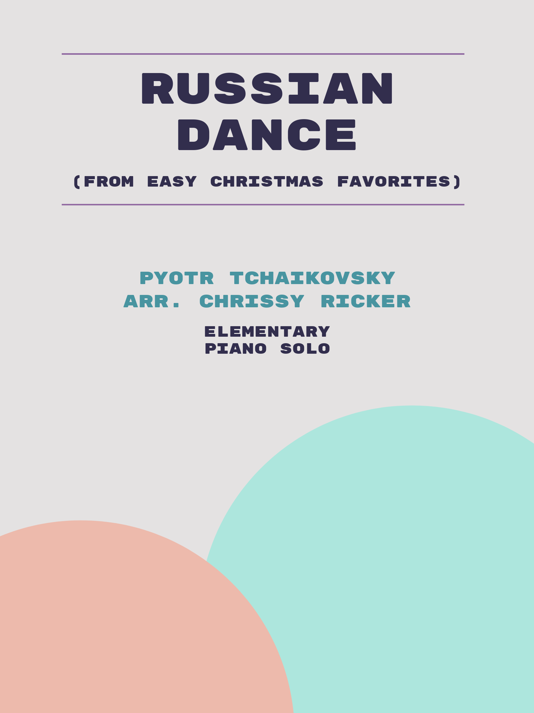 Russian Dance by Pyotr Tchaikovsky