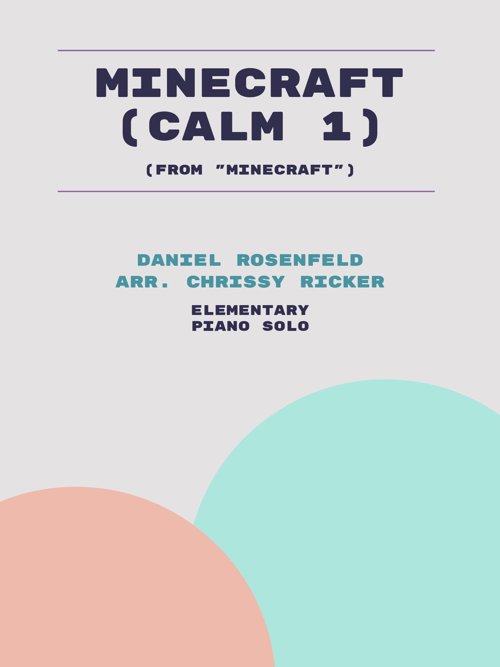 Minecraft (Calm 1) Sample Page