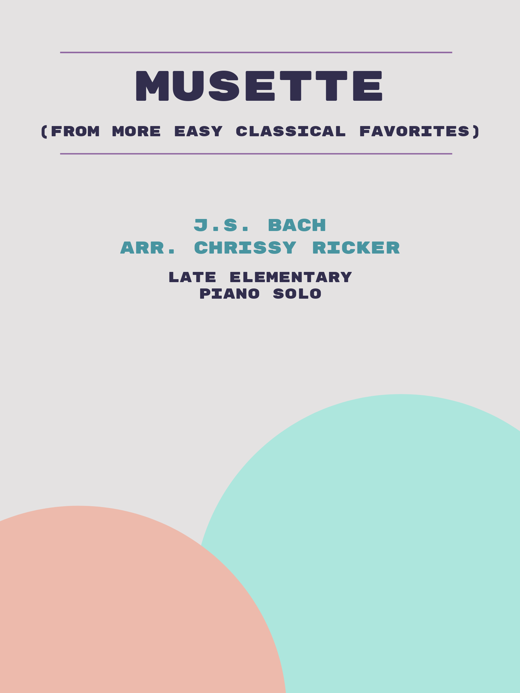 Musette by J.S. Bach