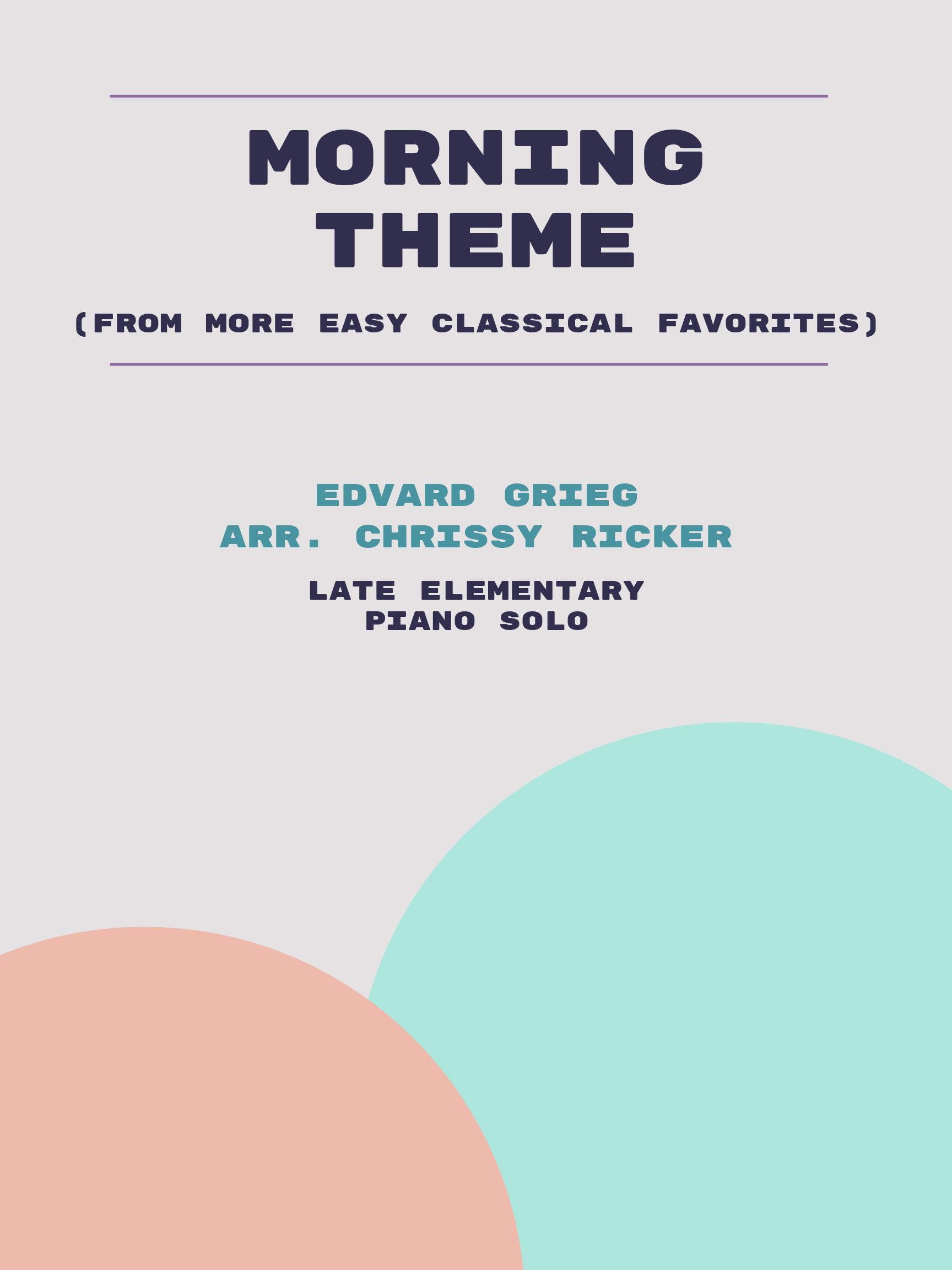 Morning Theme by Edvard Grieg