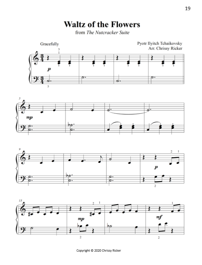 Waltz of the Flowers Sample Page