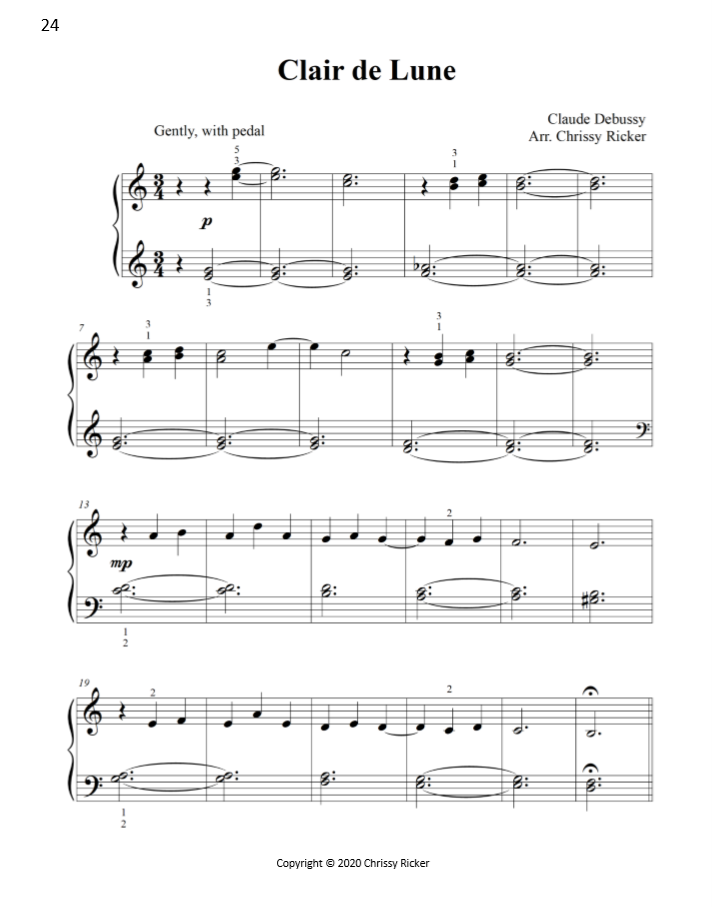 Clair de Lune Sample Page