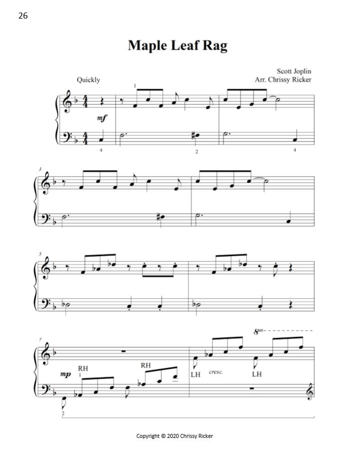 Maple Leaf Rag Sample Page