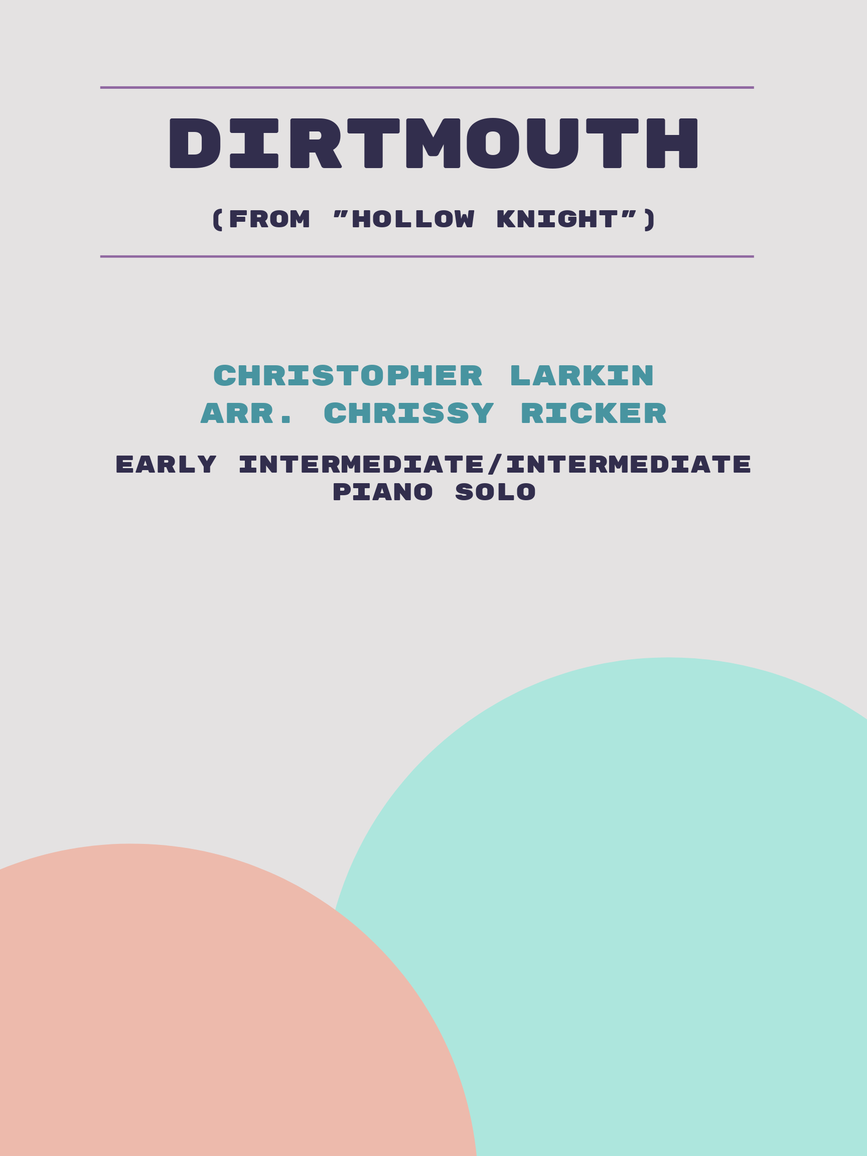 Dirtmouth by Christopher Larkin