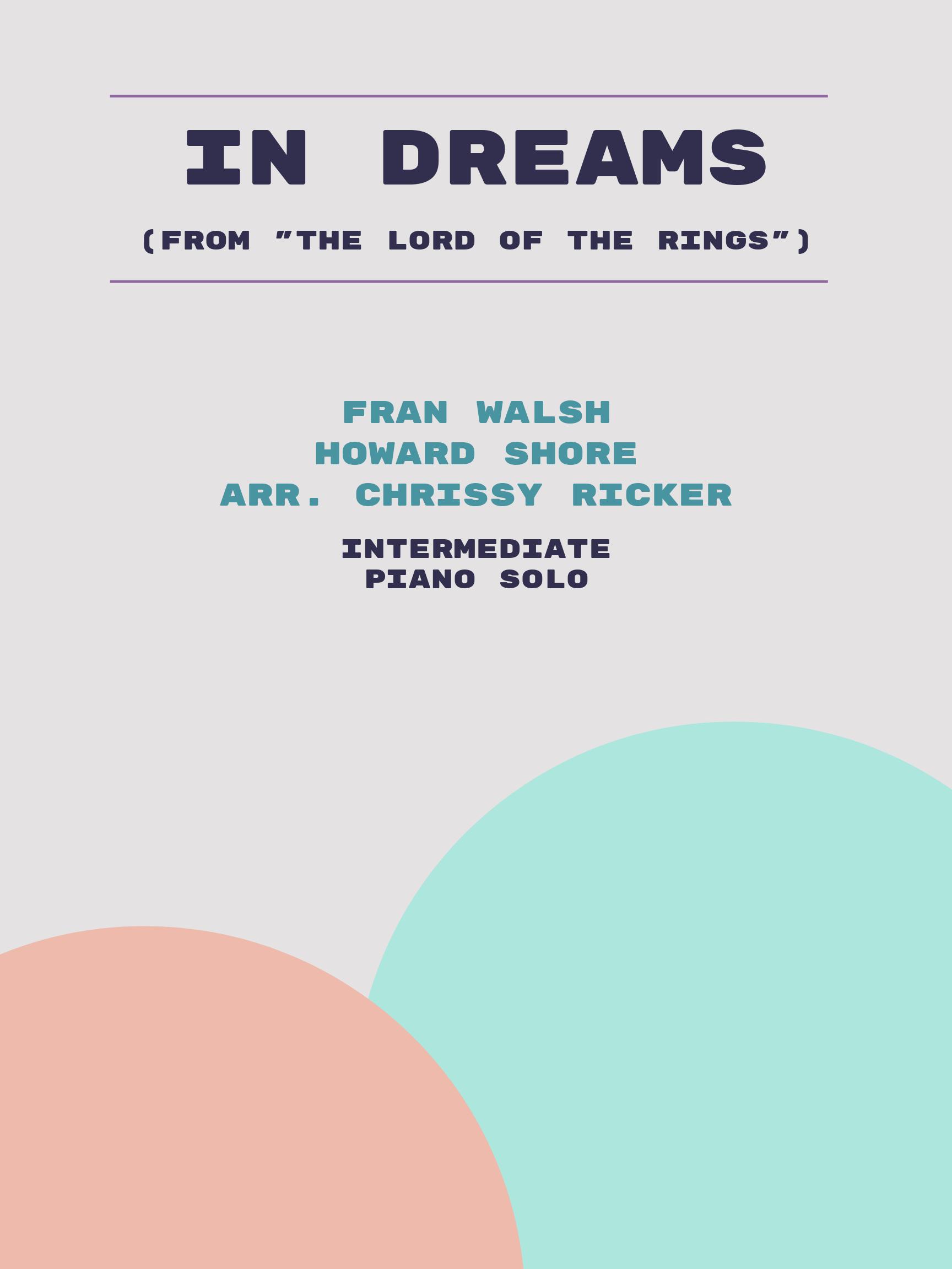 In Dreams by Fran Walsh, Howard Shore