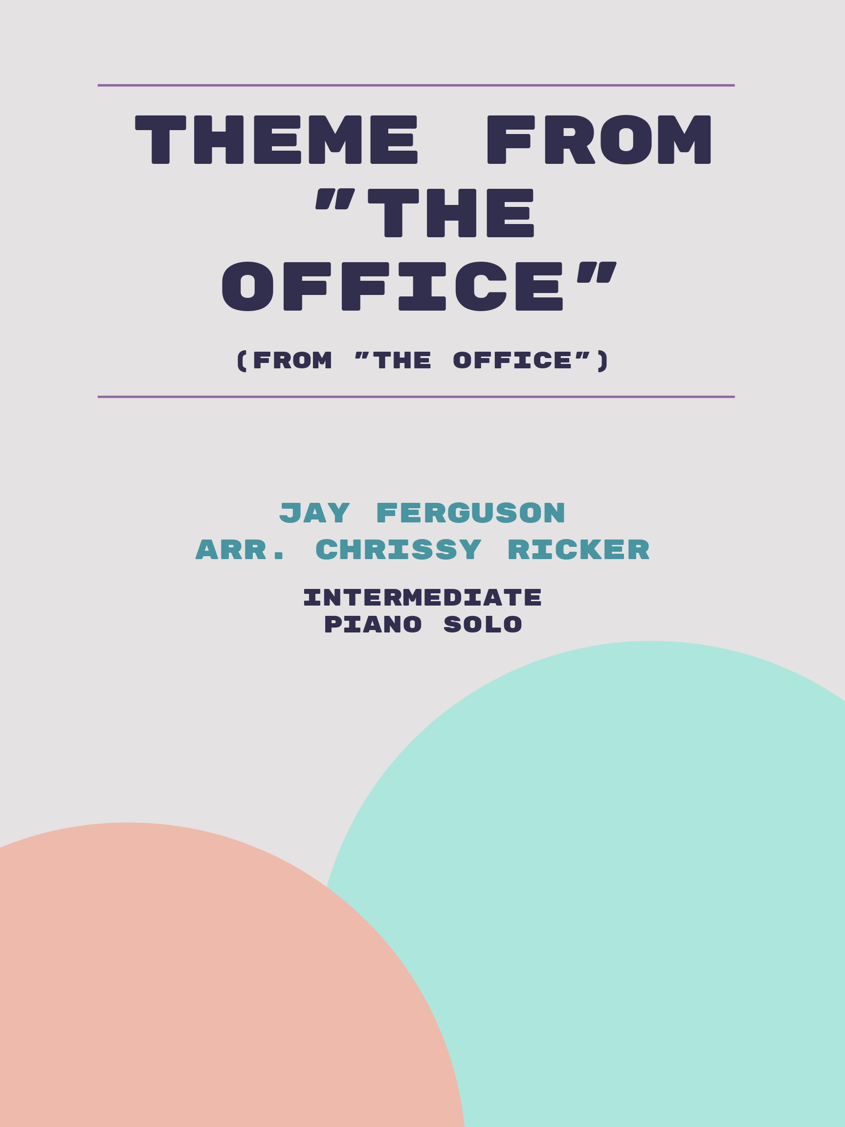 "Theme from ""The Office"" by Jay Ferguson"