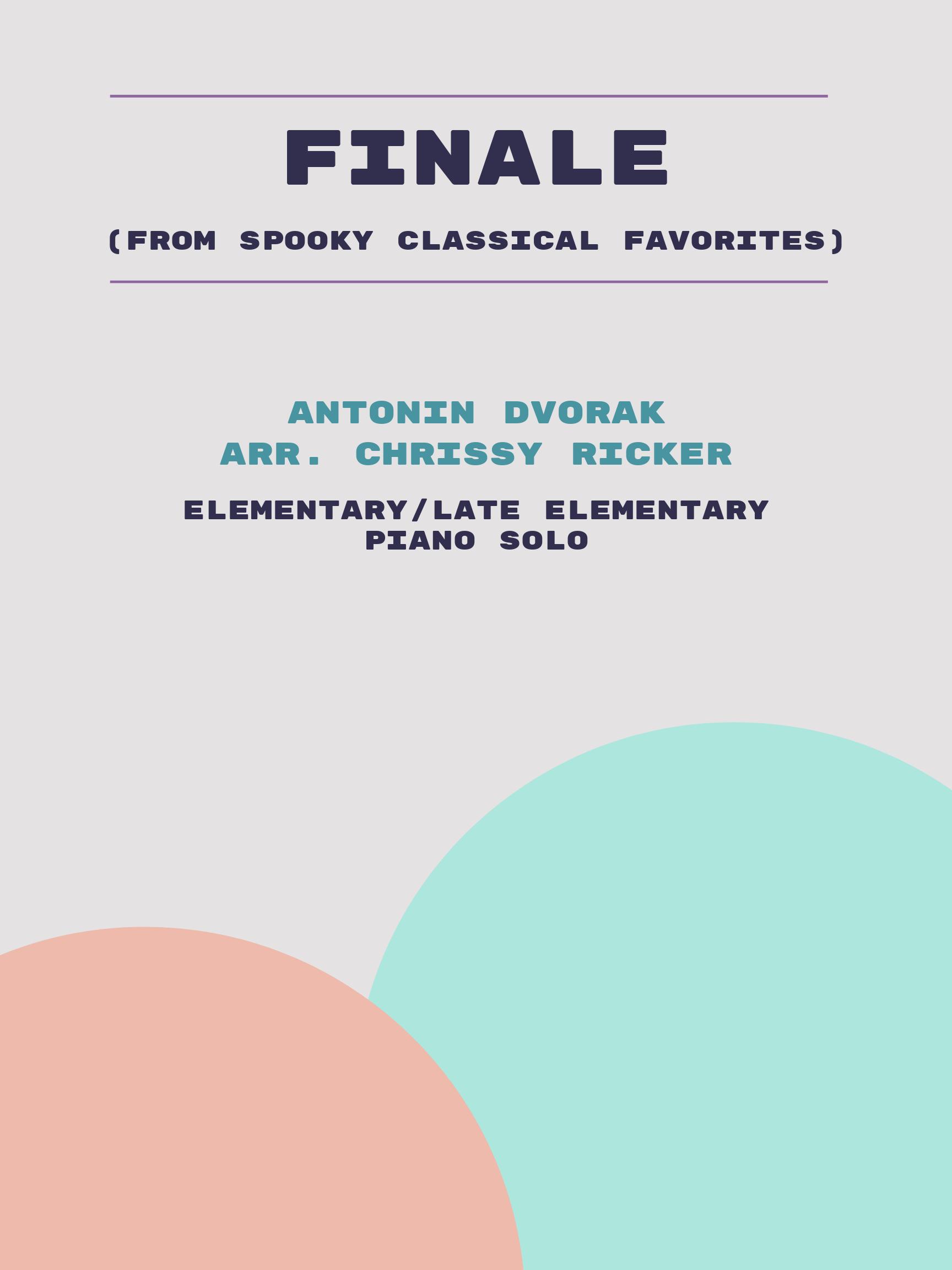 Finale by Antonin Dvorak