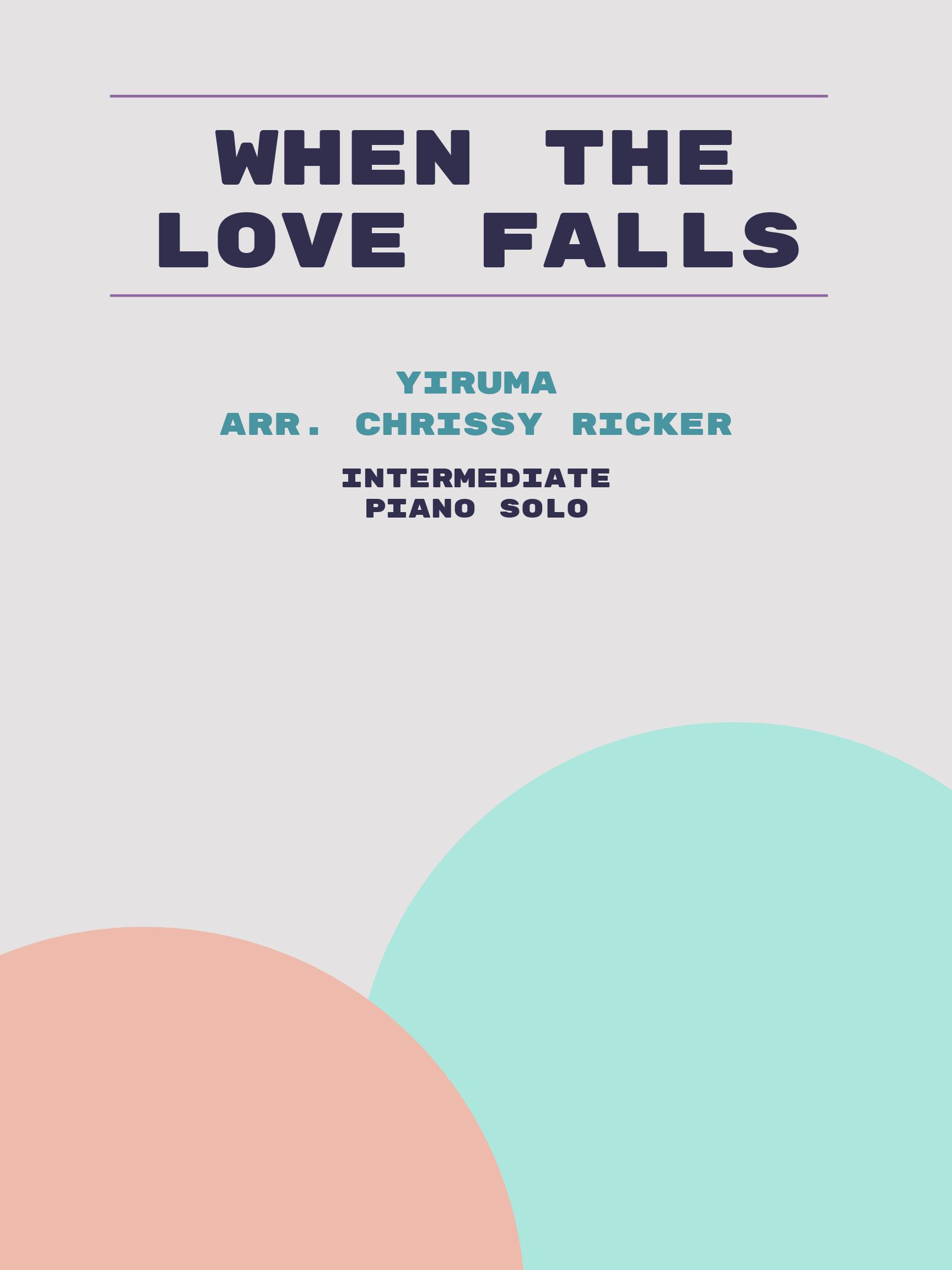 When the Love Falls by Yiruma