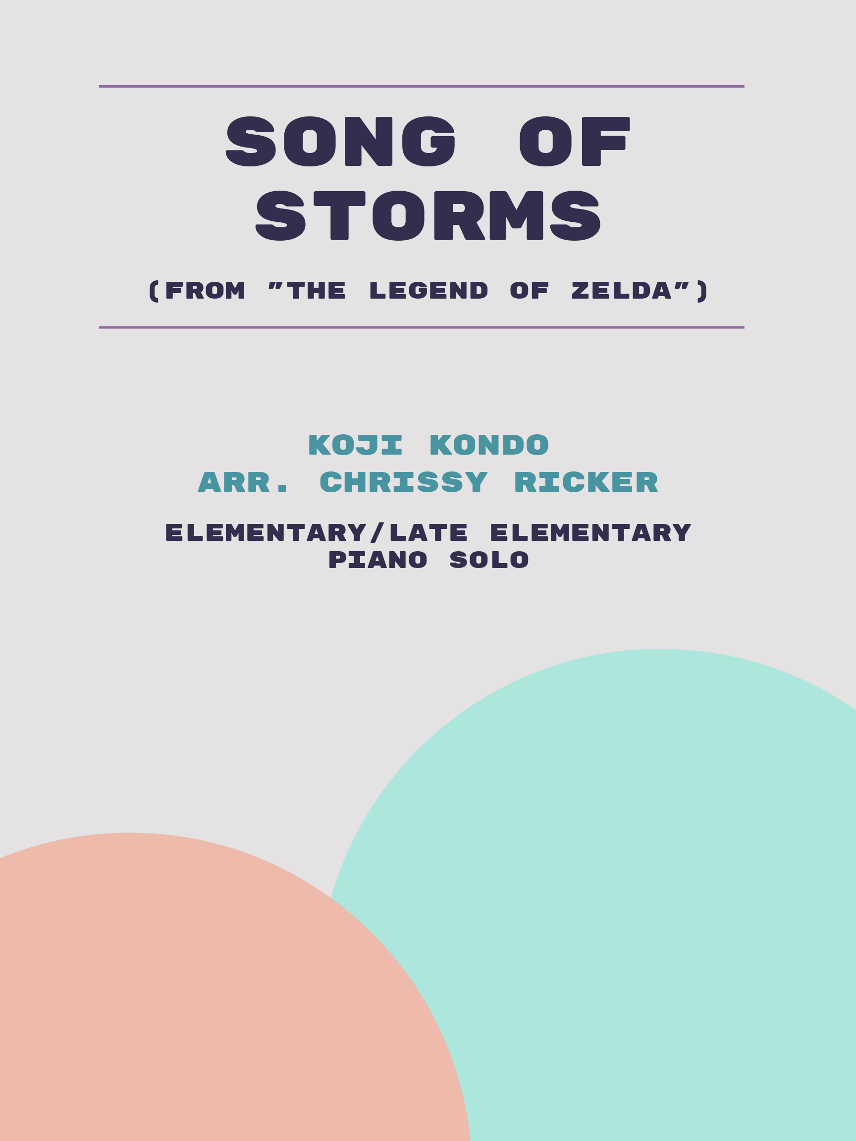 Song of Storms by Koji Kondo